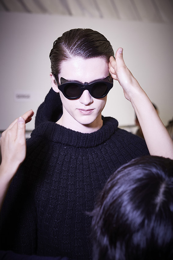 Backstage Man Model Ermenegildo Zegna Couture Winter 2015