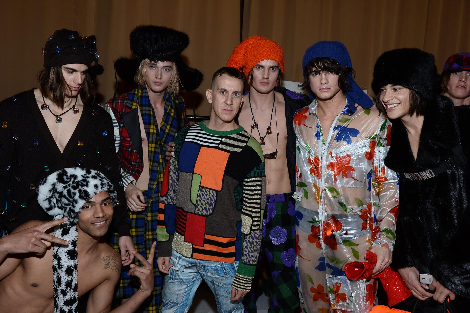 Backstage Moschino FW 2015 Jeremy Scott Models