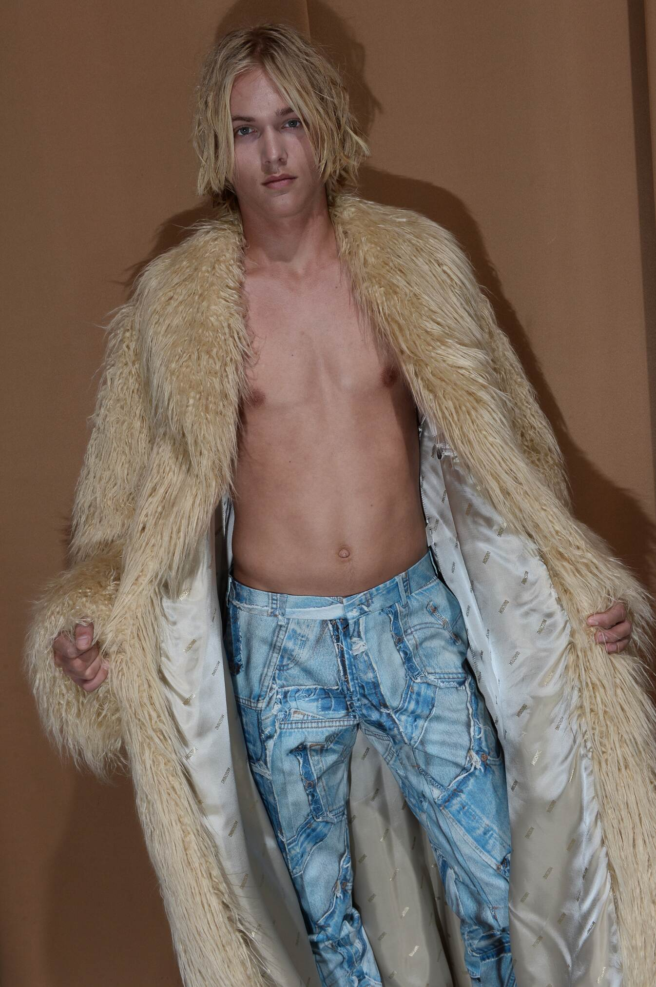 Backstage Moschino Man Model