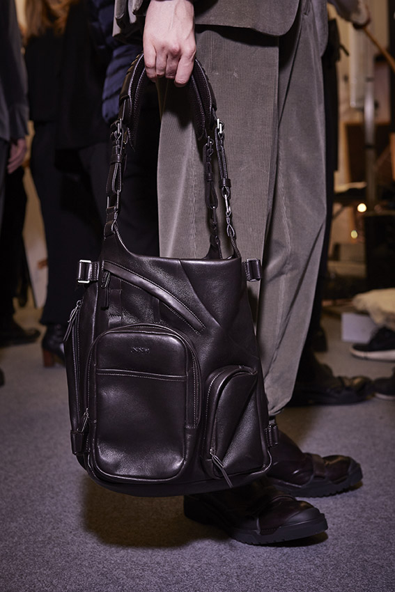 Bag Ermenegildo Zegna Couture Backstage Fall Winter 2015