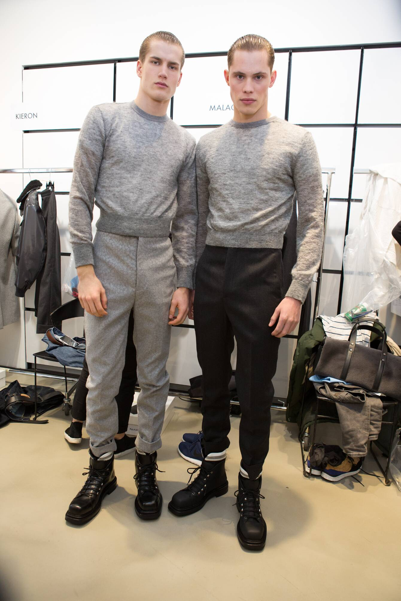 Calvin Klein Collection Backstage Fashion Models