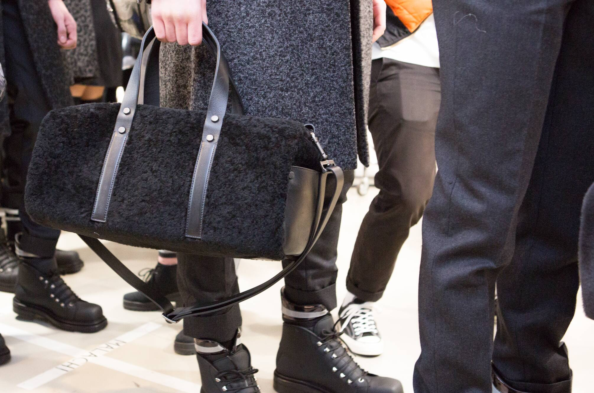 Calvin Klein Collection Bag Detail Backstage FW 2015
