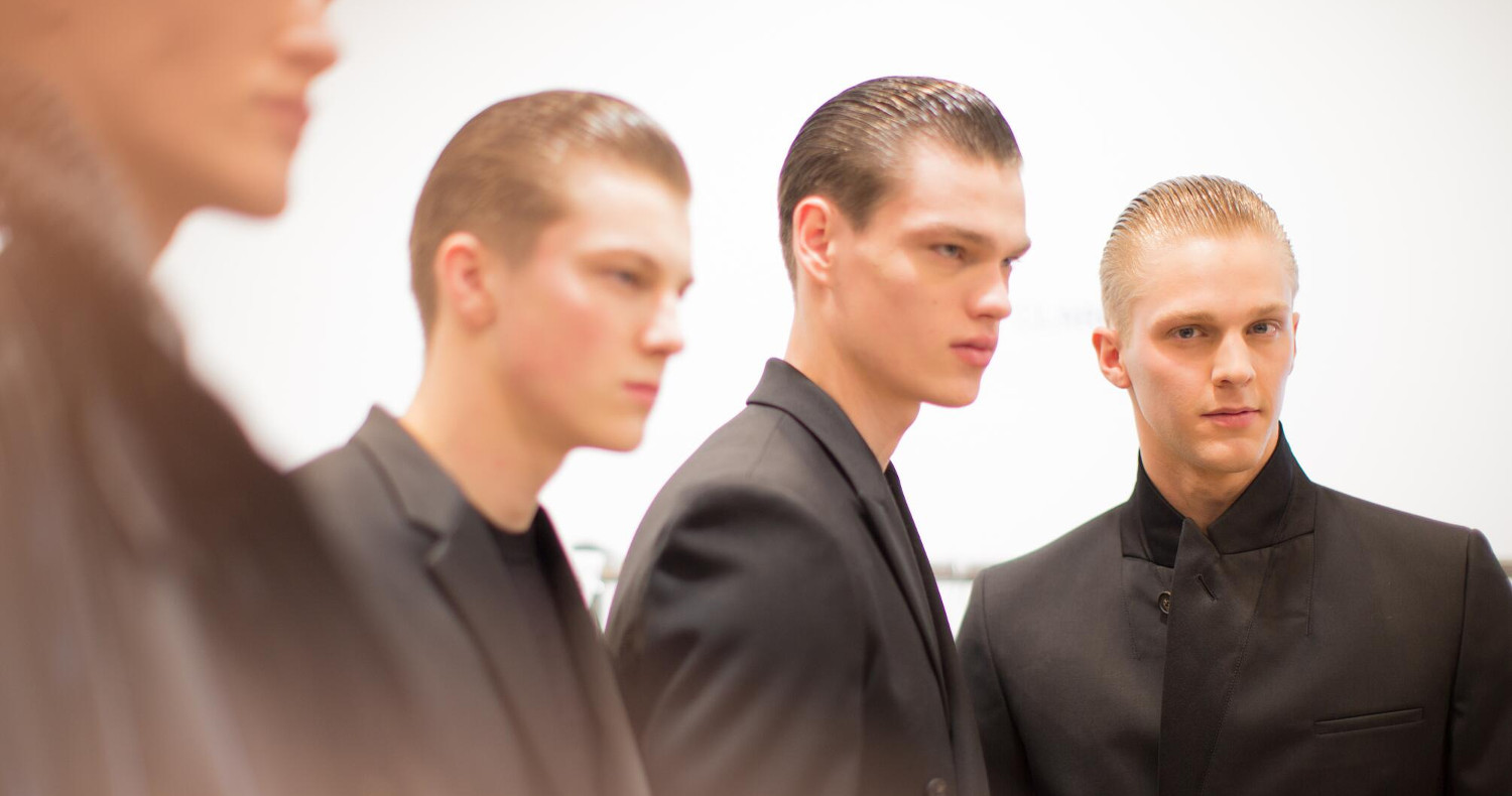 Calvin Klein Collection FW 2015 Menswear Backstage Milano