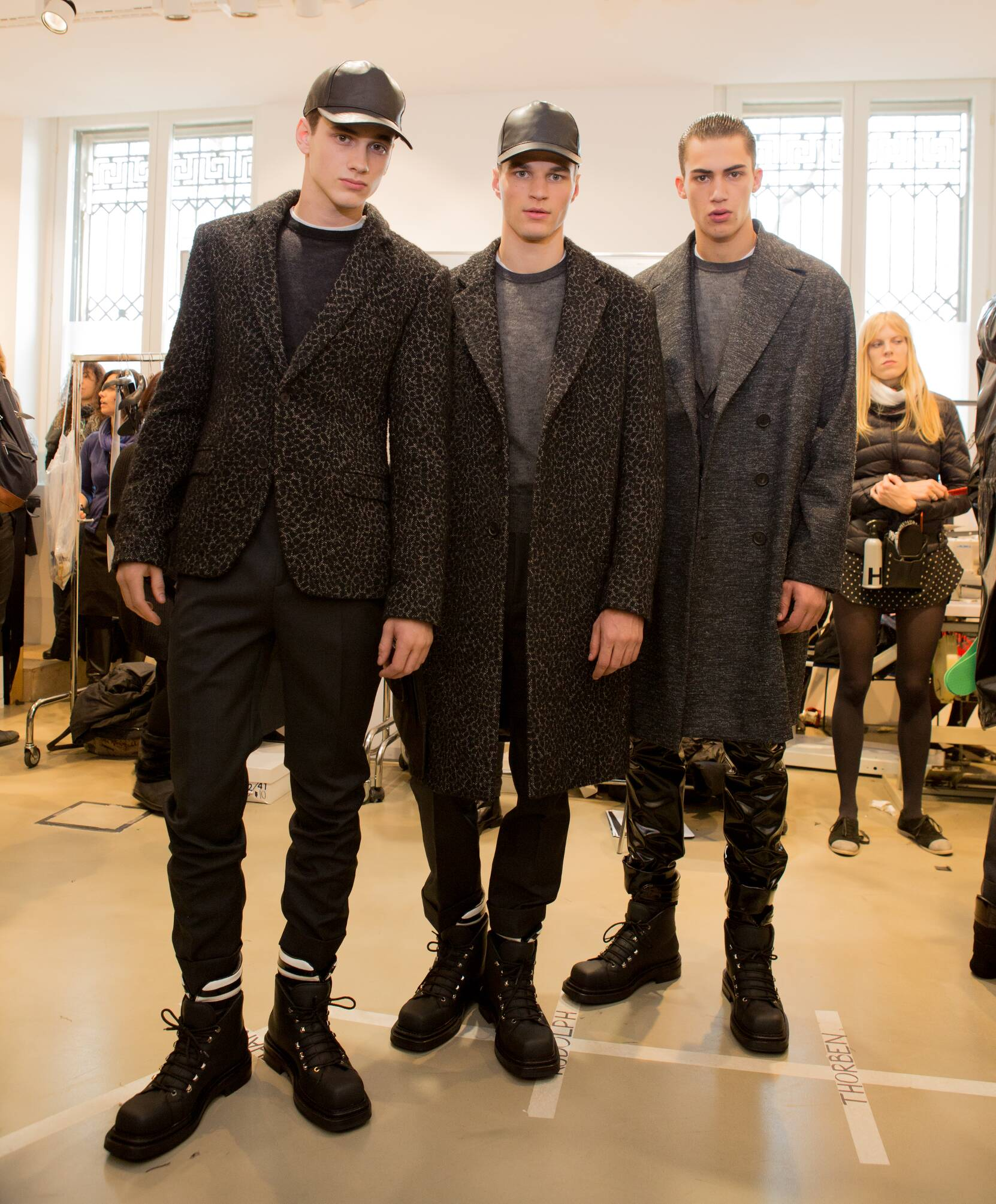 Calvin Klein Collection FW 2015 Menswear Backstage