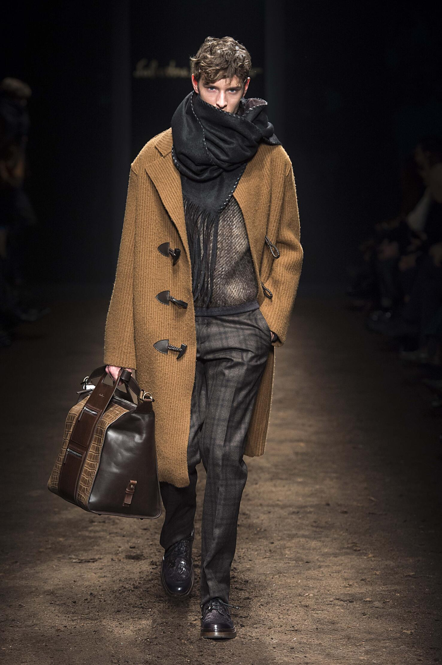 Catwalk Salvatore Ferragamo Fall Winter 2015 16 Men's Collection Milano Fashion Week