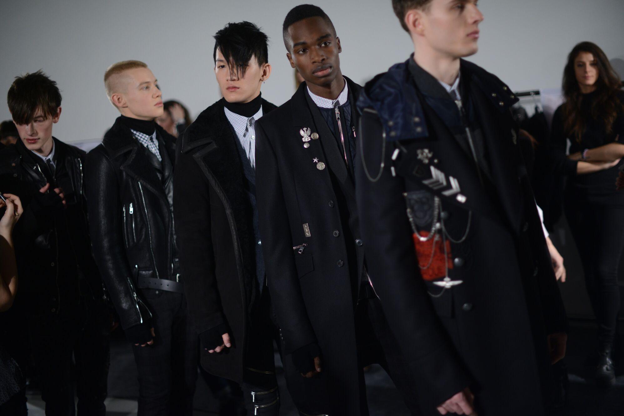 Diesel Backstage Fashion Models