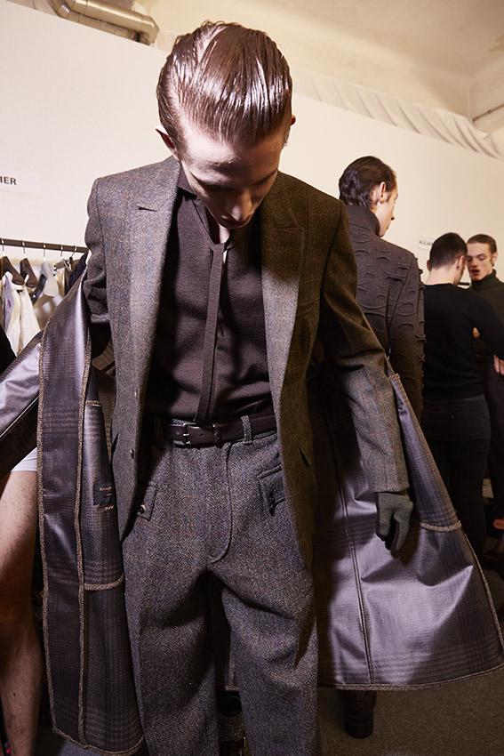 Ermenegildo Zegna Couture Backstage Fashion Model