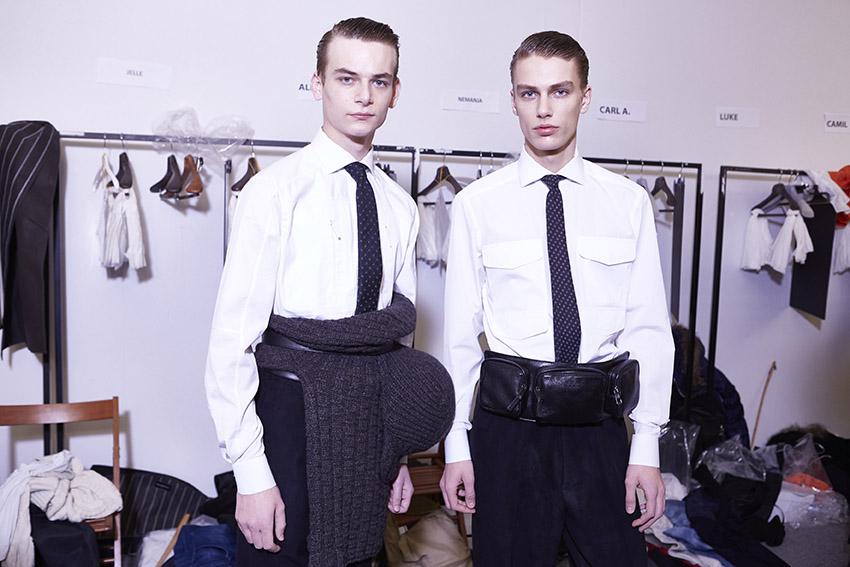 Ermenegildo Zegna Couture Backstage Fashion Models