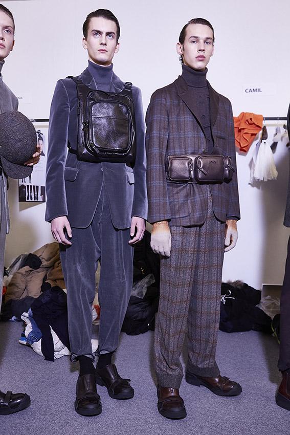 Ermenegildo Zegna Couture FW 2015 Menswear Backstage Milan