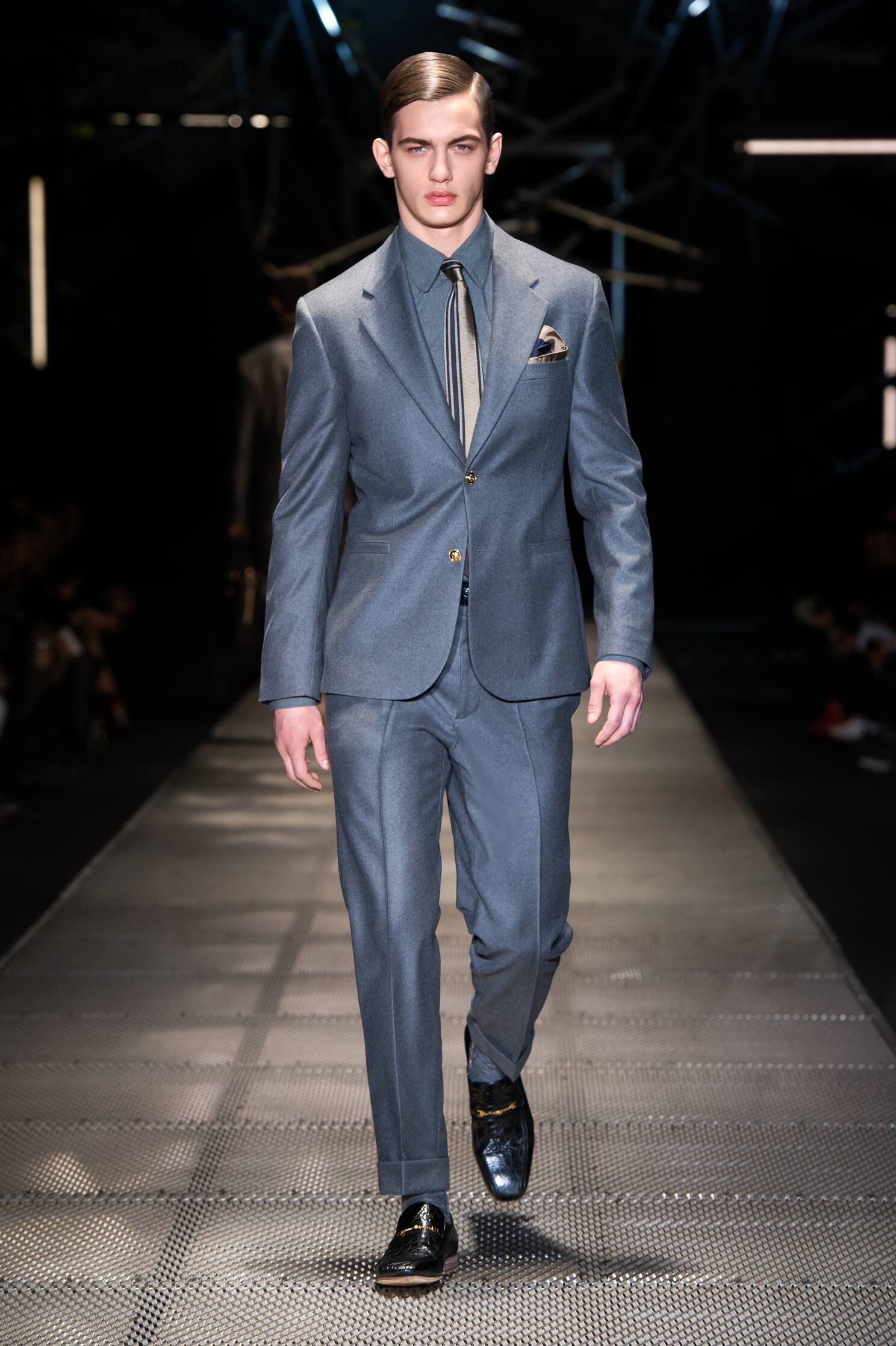 Fall Fashion Man Italian Suit Versace