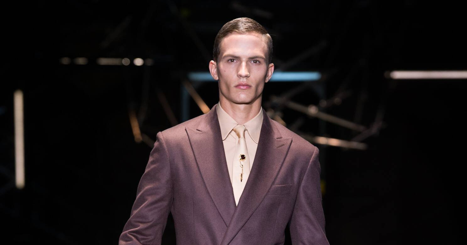 Fall Fashion Man Suit Versace 2015