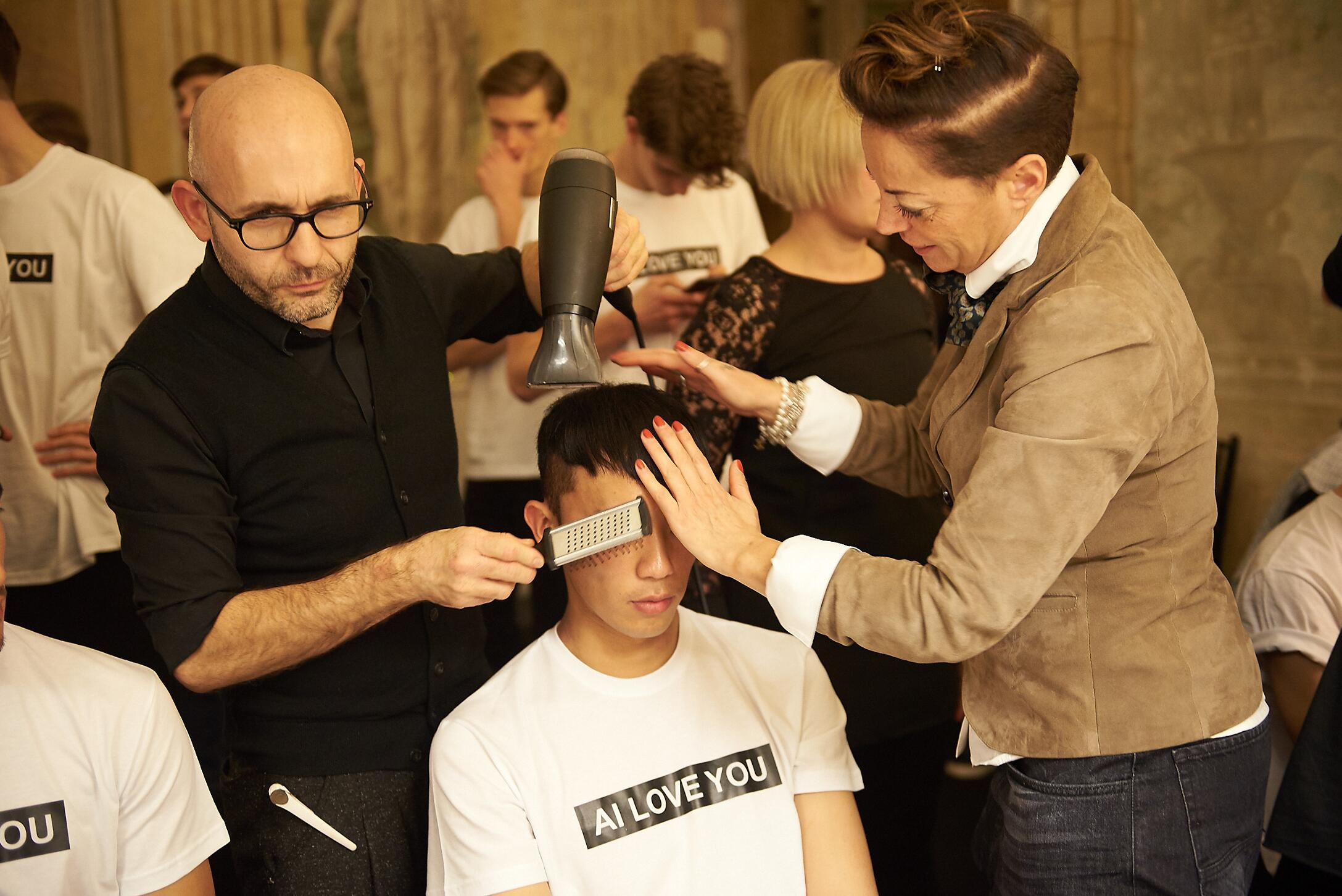 Fashion Hair Style Backstage Andrea Incontri
