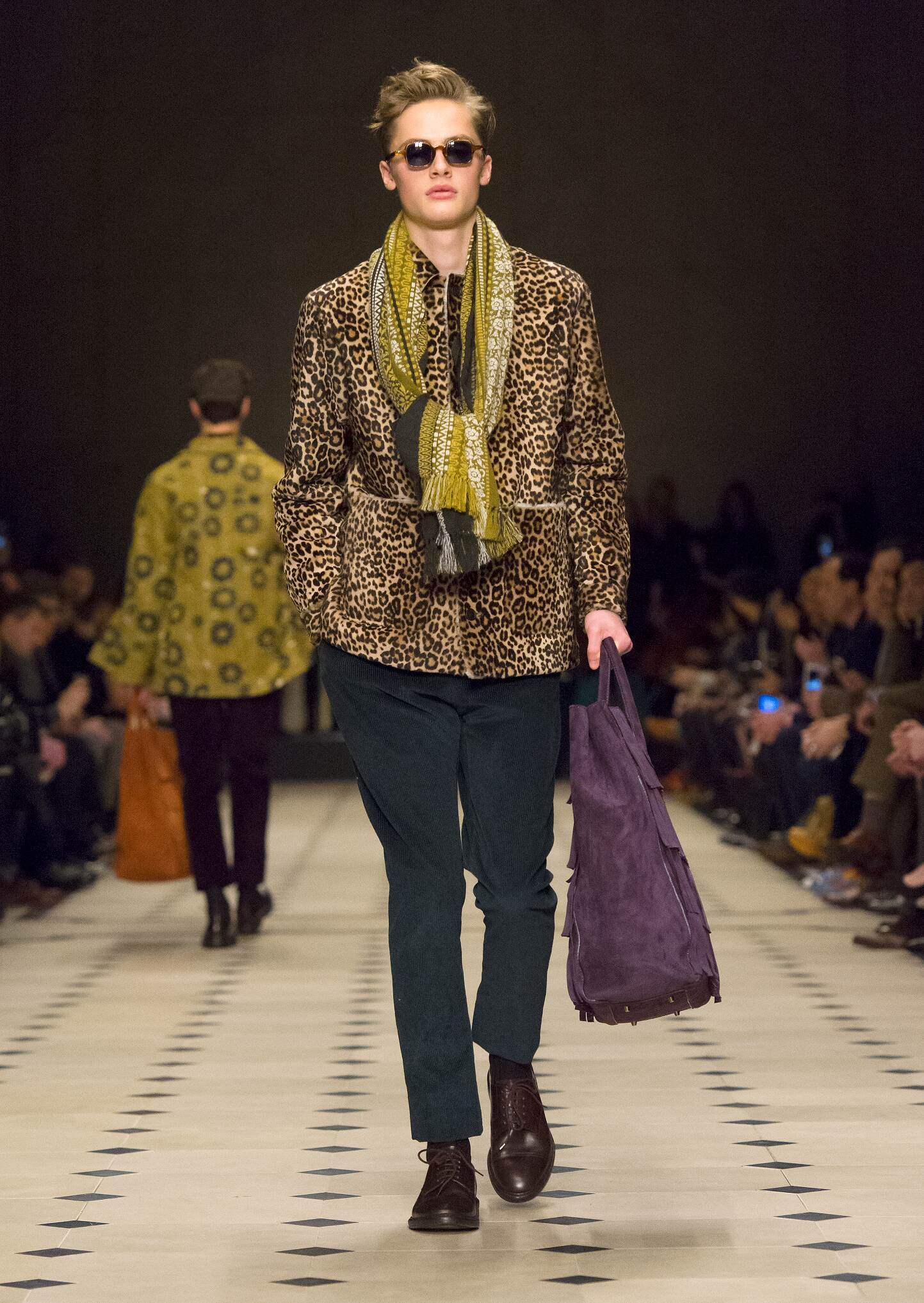Fashion Man Model Burberry Prorsum Catwalk
