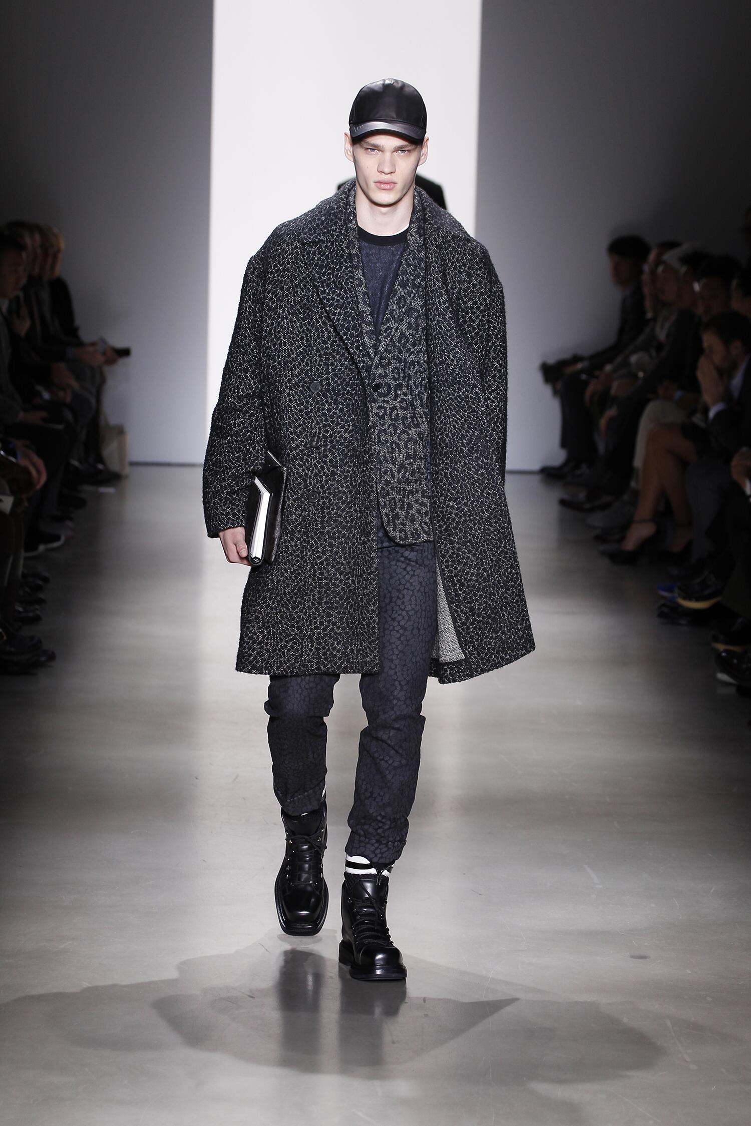 Fashion Man Model Calvin Klein Collection Catwalk