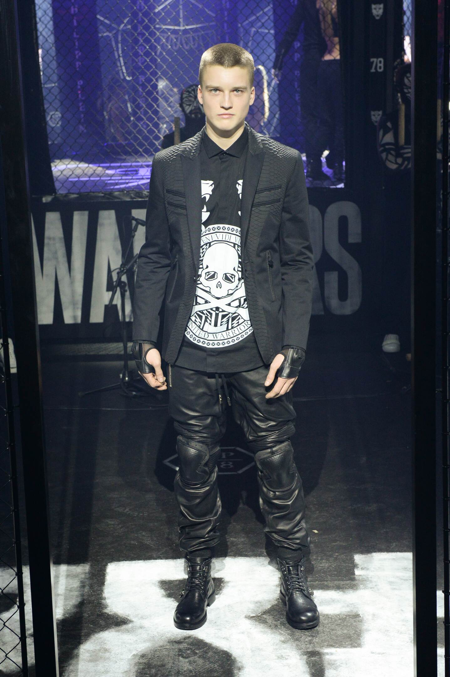 Fashion Man Model Philipp Plein Catwalk