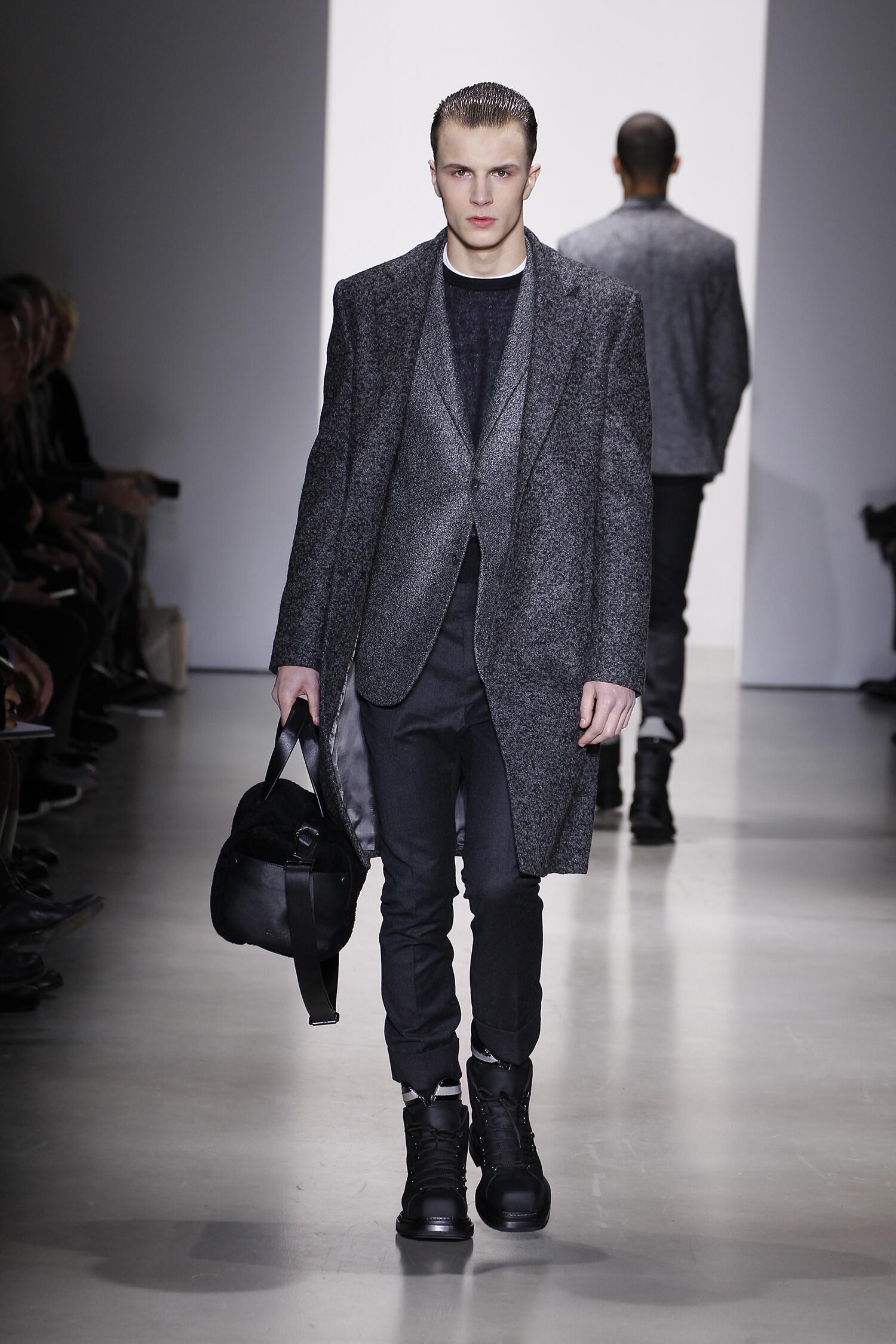 Fashion Model Calvin Klein Collection Catwalk