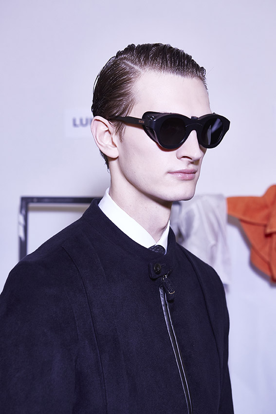 Fashion Model Ermenegildo Zegna Couture Backstage