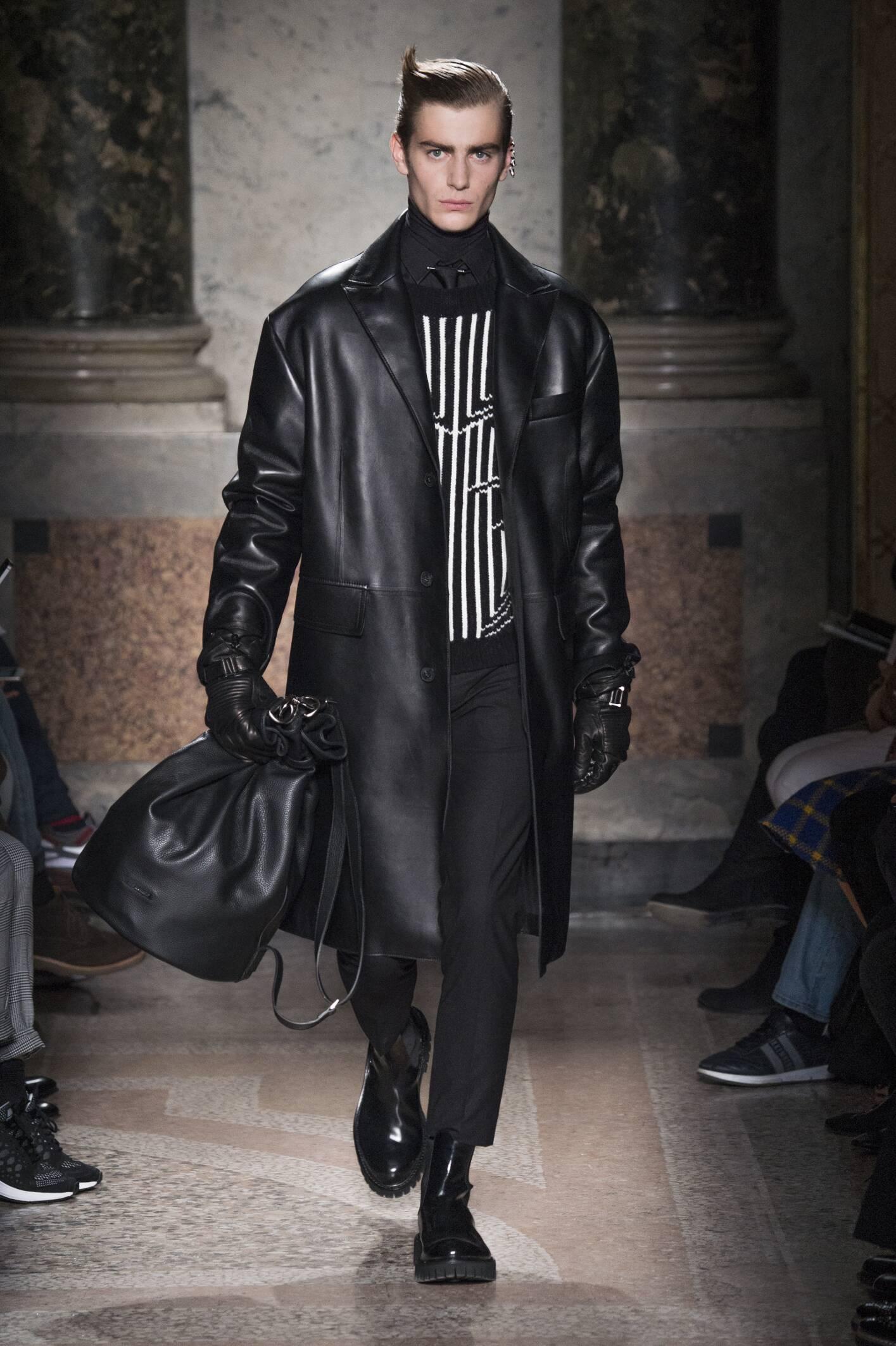 Fashion Model Les Hommes Catwalk