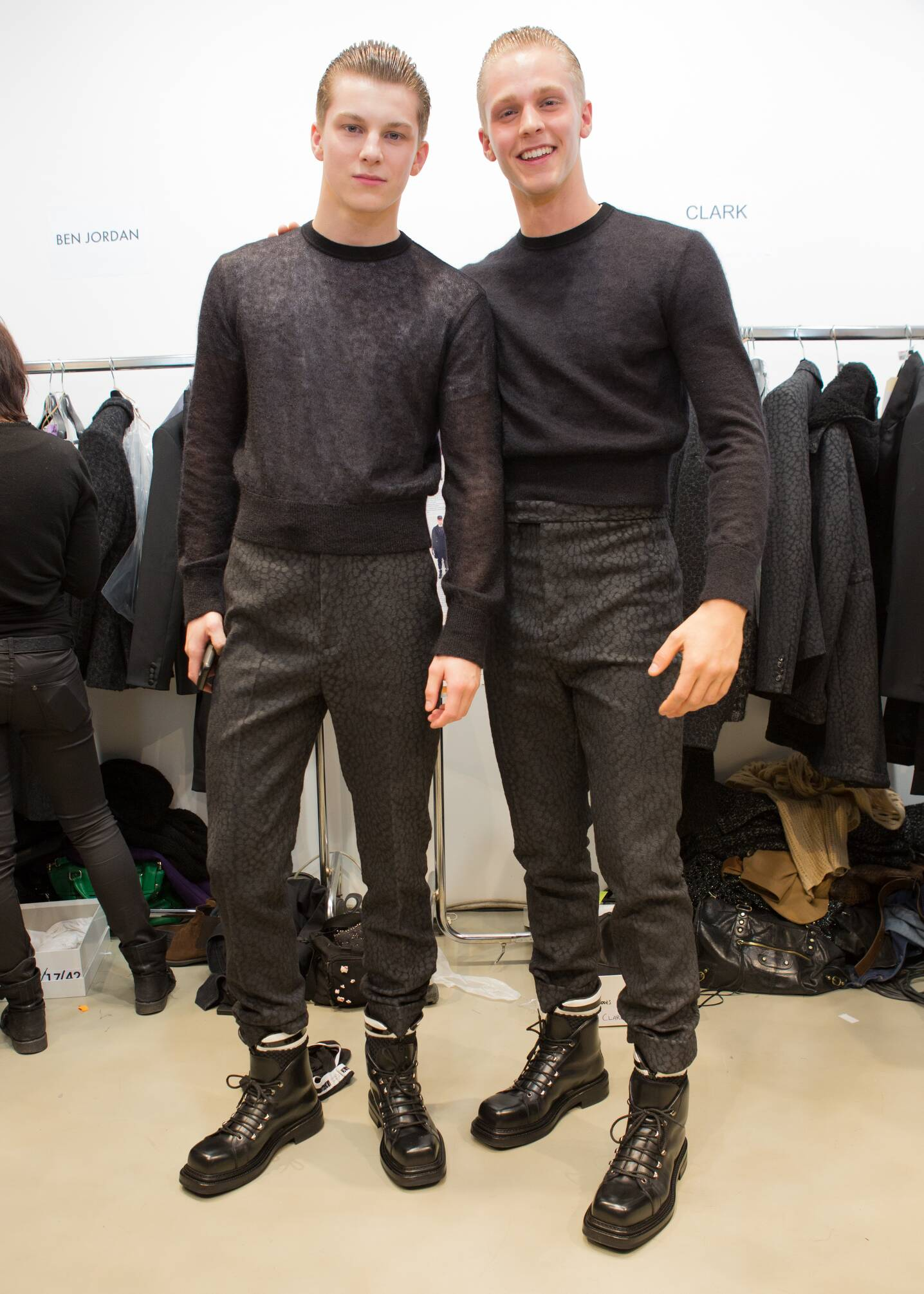 Fashion Models Calvin Klein Collection Backstage