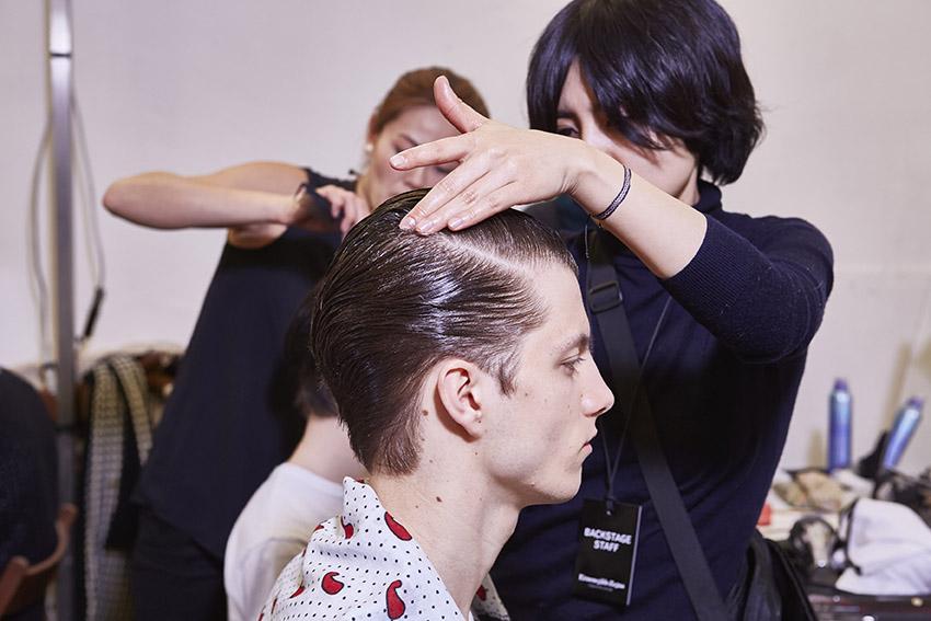 Hair Style Backstage Ermenegildo Zegna Couture