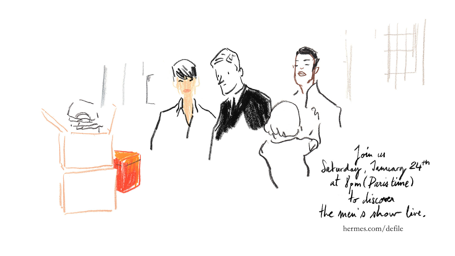 Hermès Fall Winter 2015-16 Men's Fashion Show Live Streaming Paris