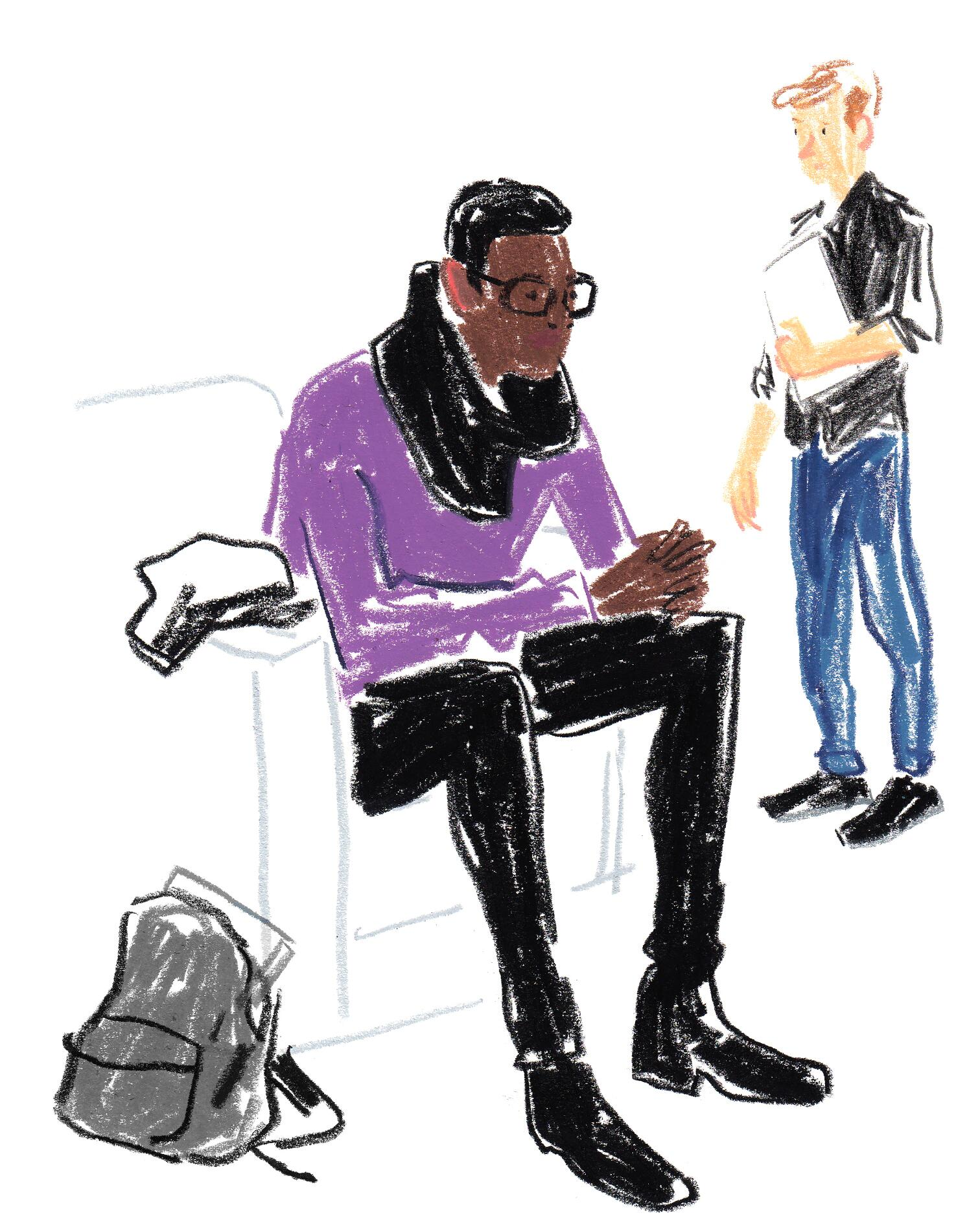 Hermès Fall Winter 2015-16 Menswear Illustration Damien Florébert Cuypers