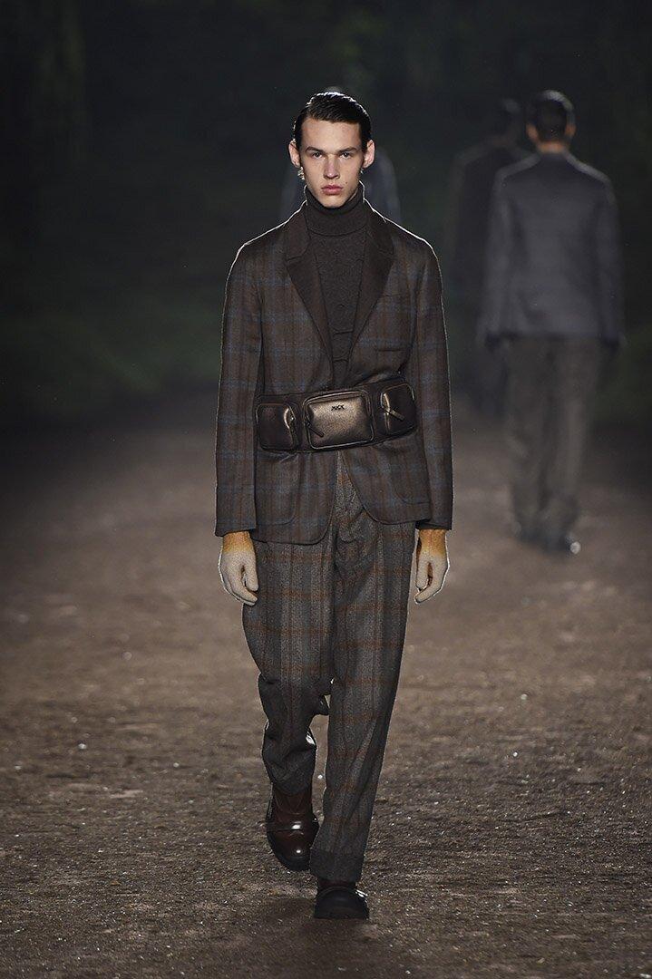 Italian Style Man Ermenegildo Zegna Couture
