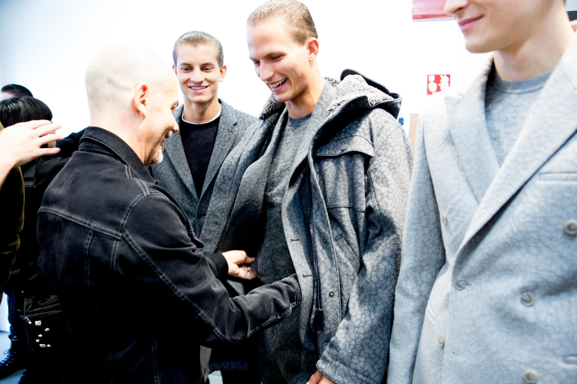 Italo Zucchelli Backstage Calvin Klein Collection