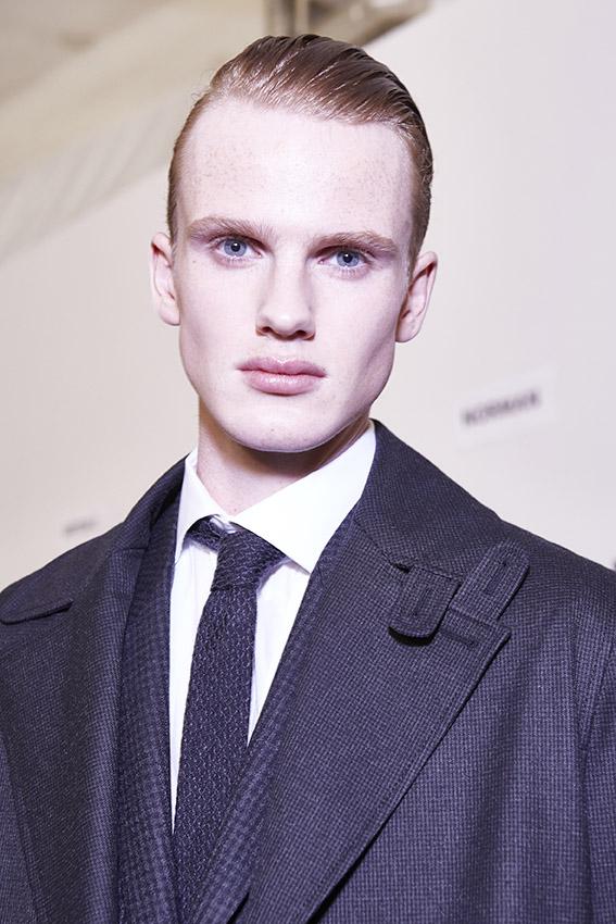 Man Model 2015 Backstage Ermenegildo Zegna Couture Milan
