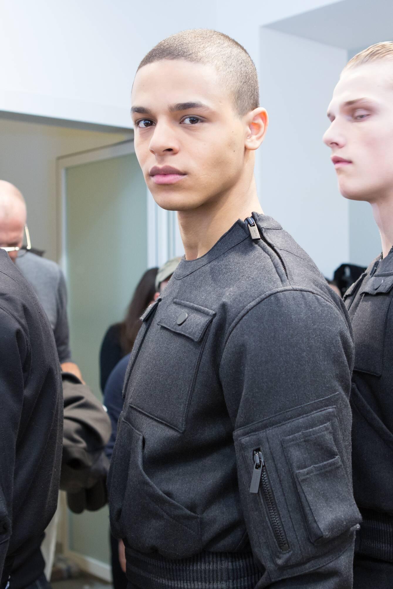 Model Backstage Calvin Klein Collection Milan