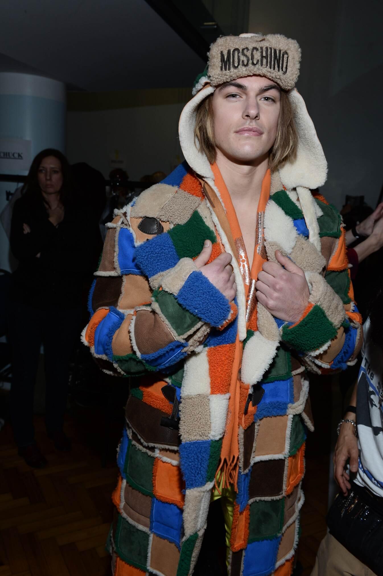Model Moschino Backstage Fall Winter 2015