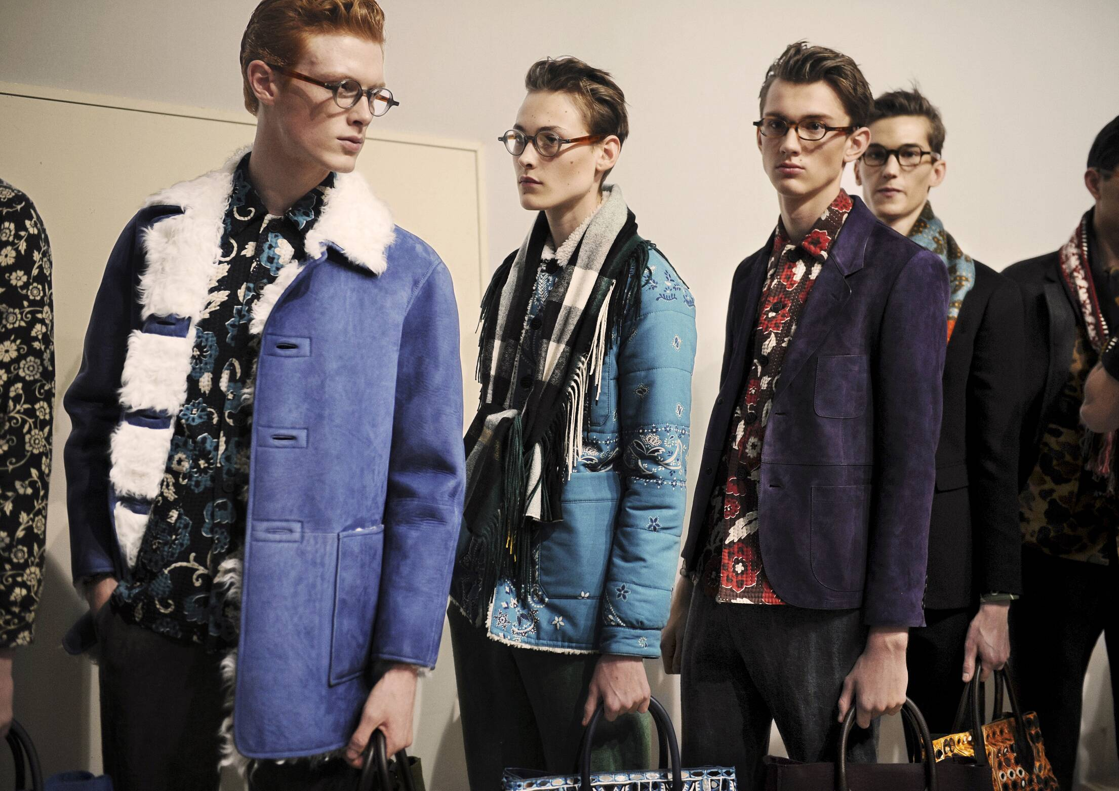 Models Backstage Burberry Prorsum Fashion Show
