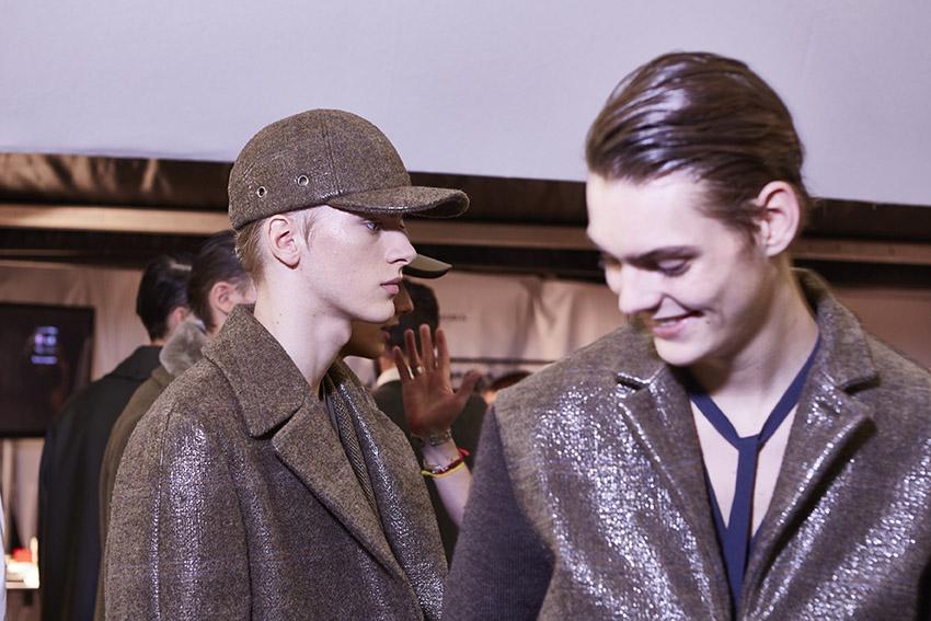 Models Backstage Ermenegildo Zegna Couture Milan