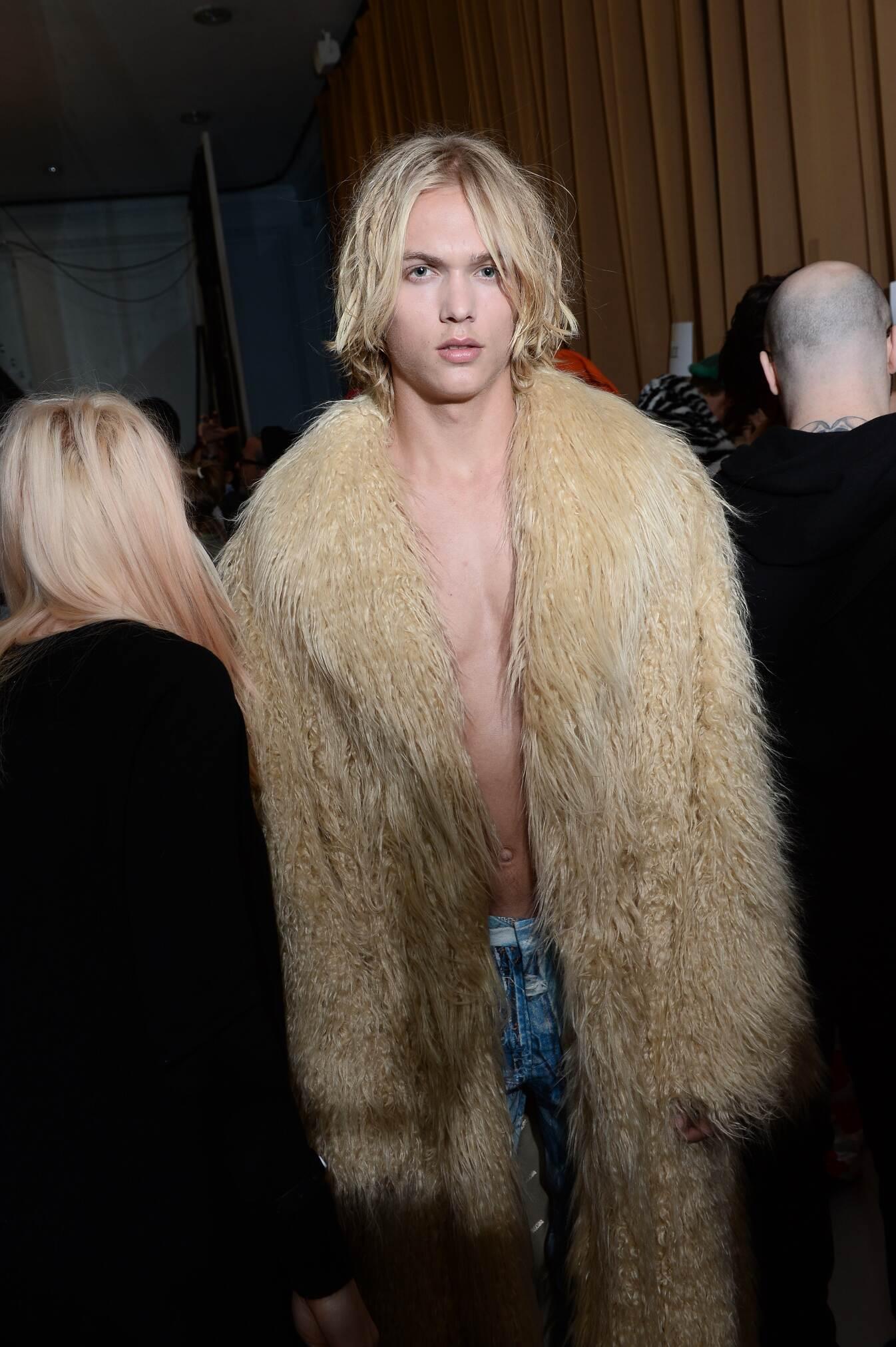 Moschino Backstage Man Model