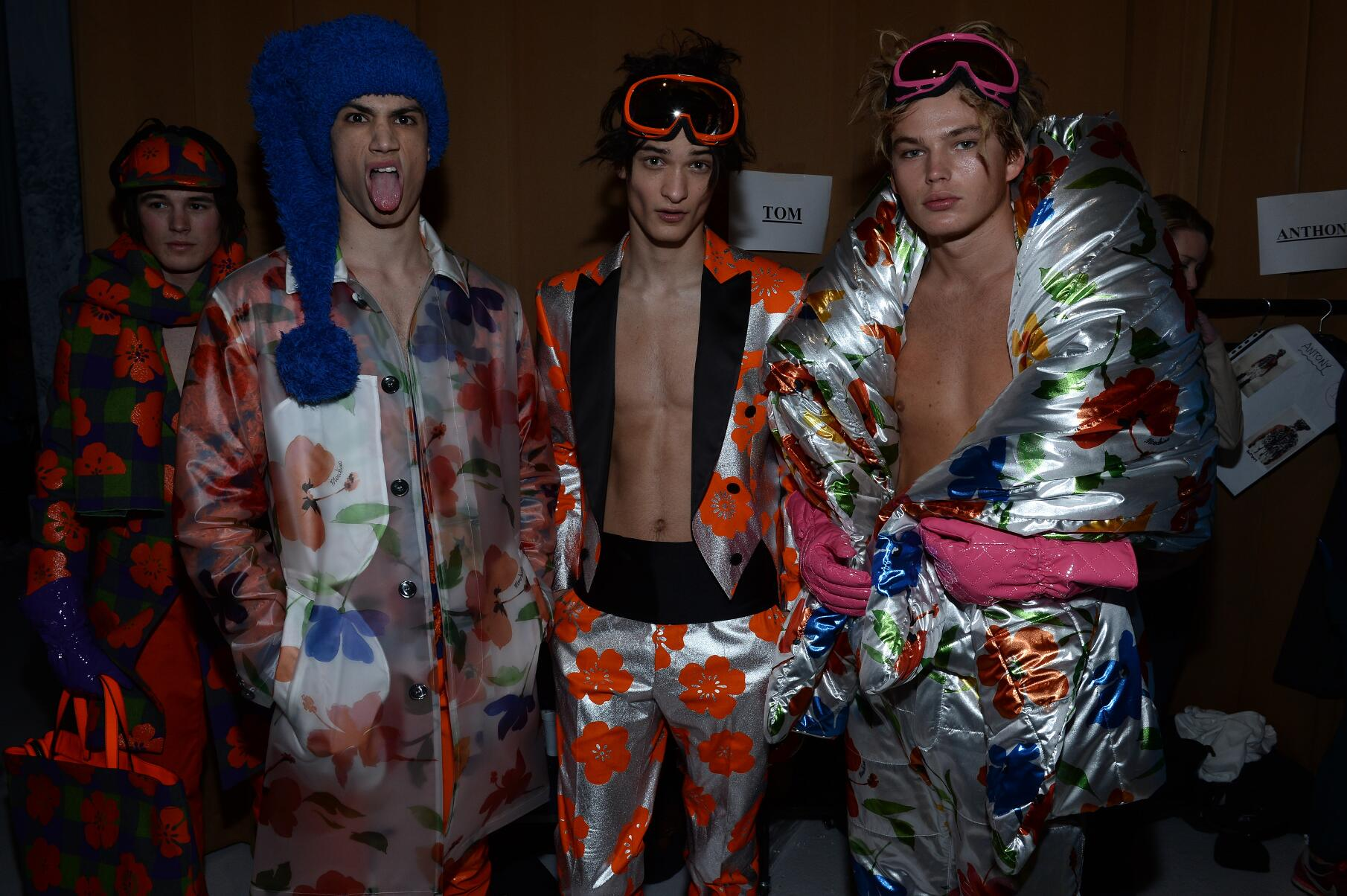 Moschino FW 2015 Menswear Backstage London