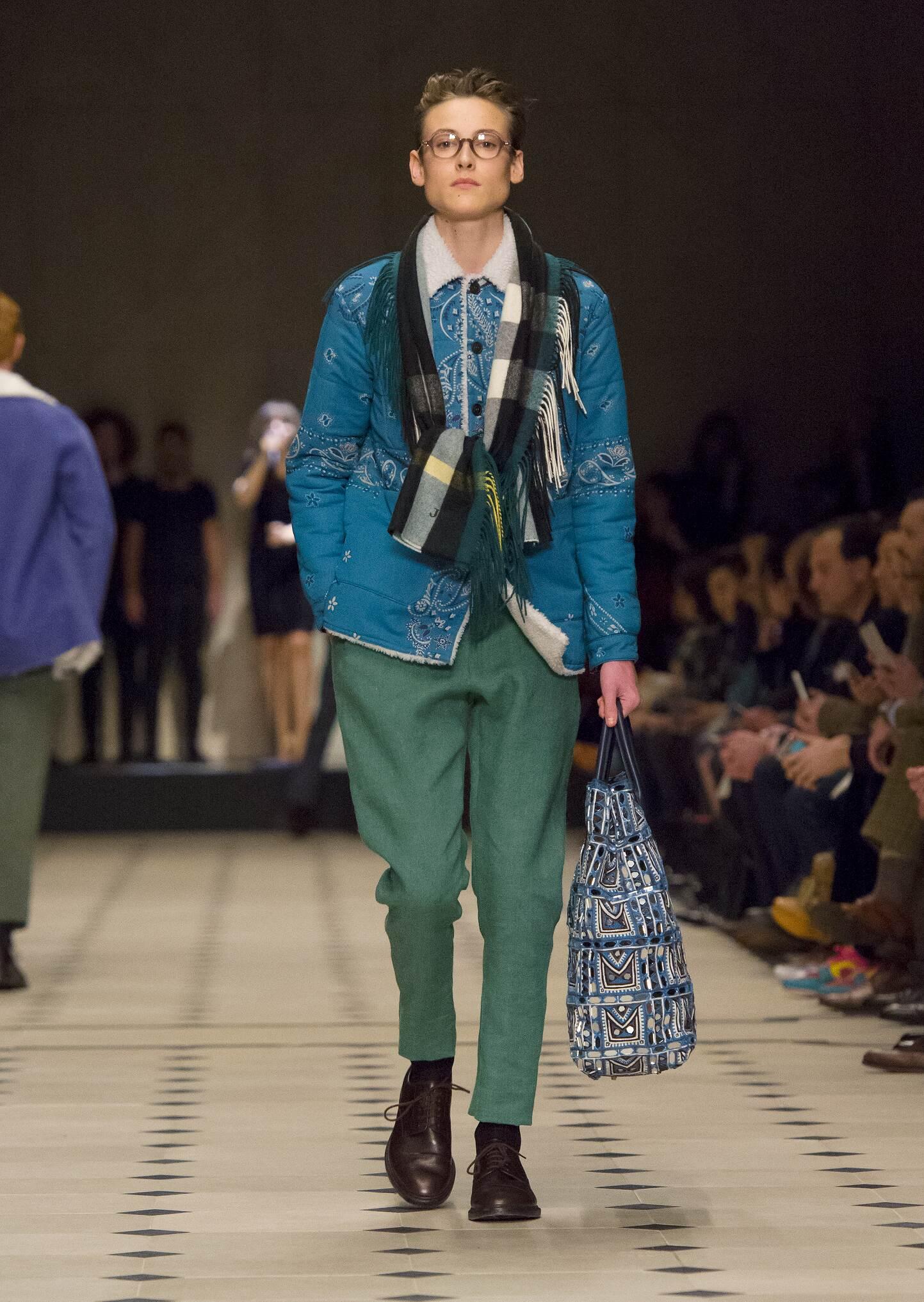 Runway Burberry Prorsum Fall Winter 2015 Men's Collection London Fashion Week