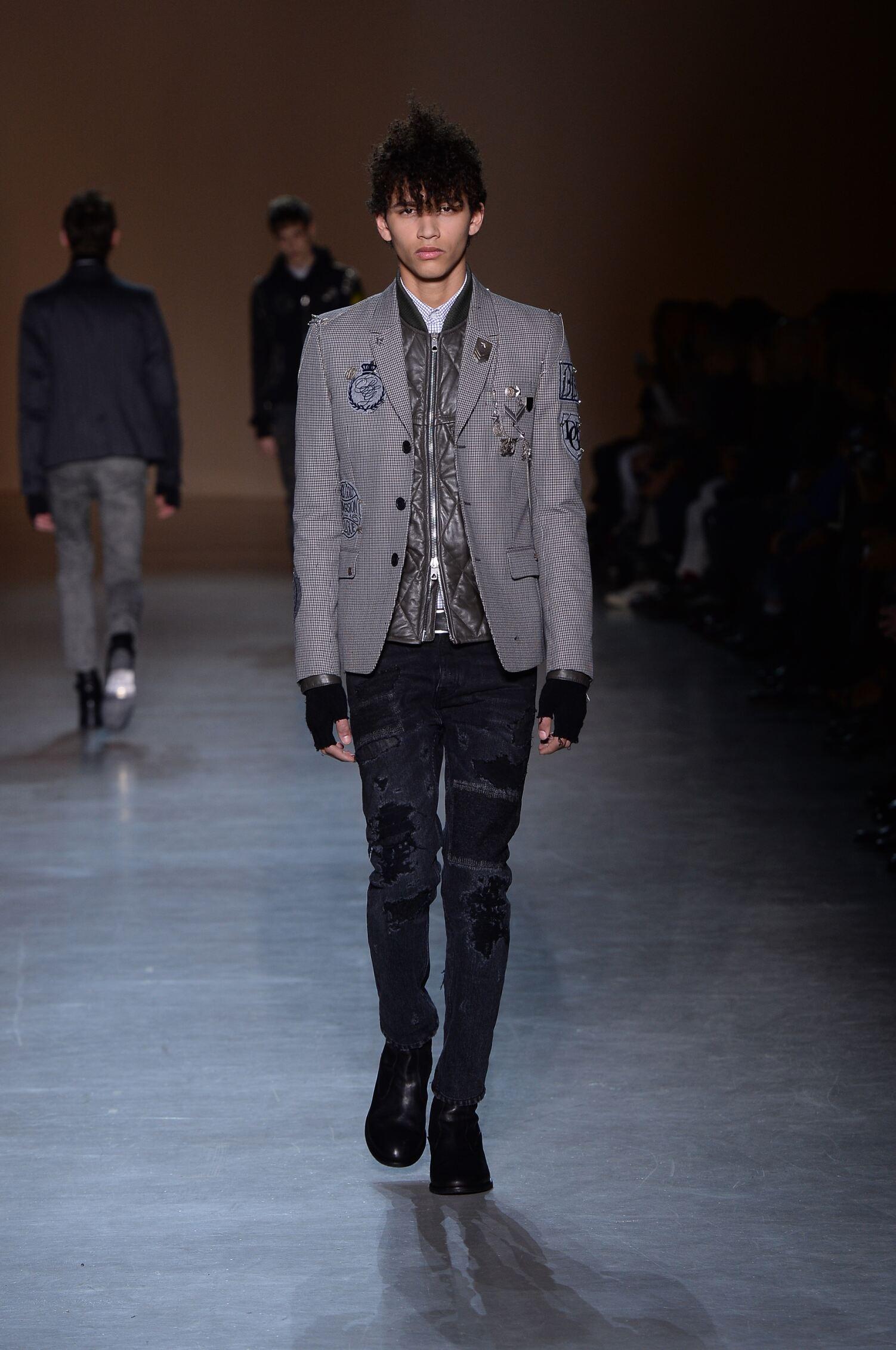 Runway Diesel Black Gold Fall Winter 2015 16 Men's Collection Milan Fashion Week