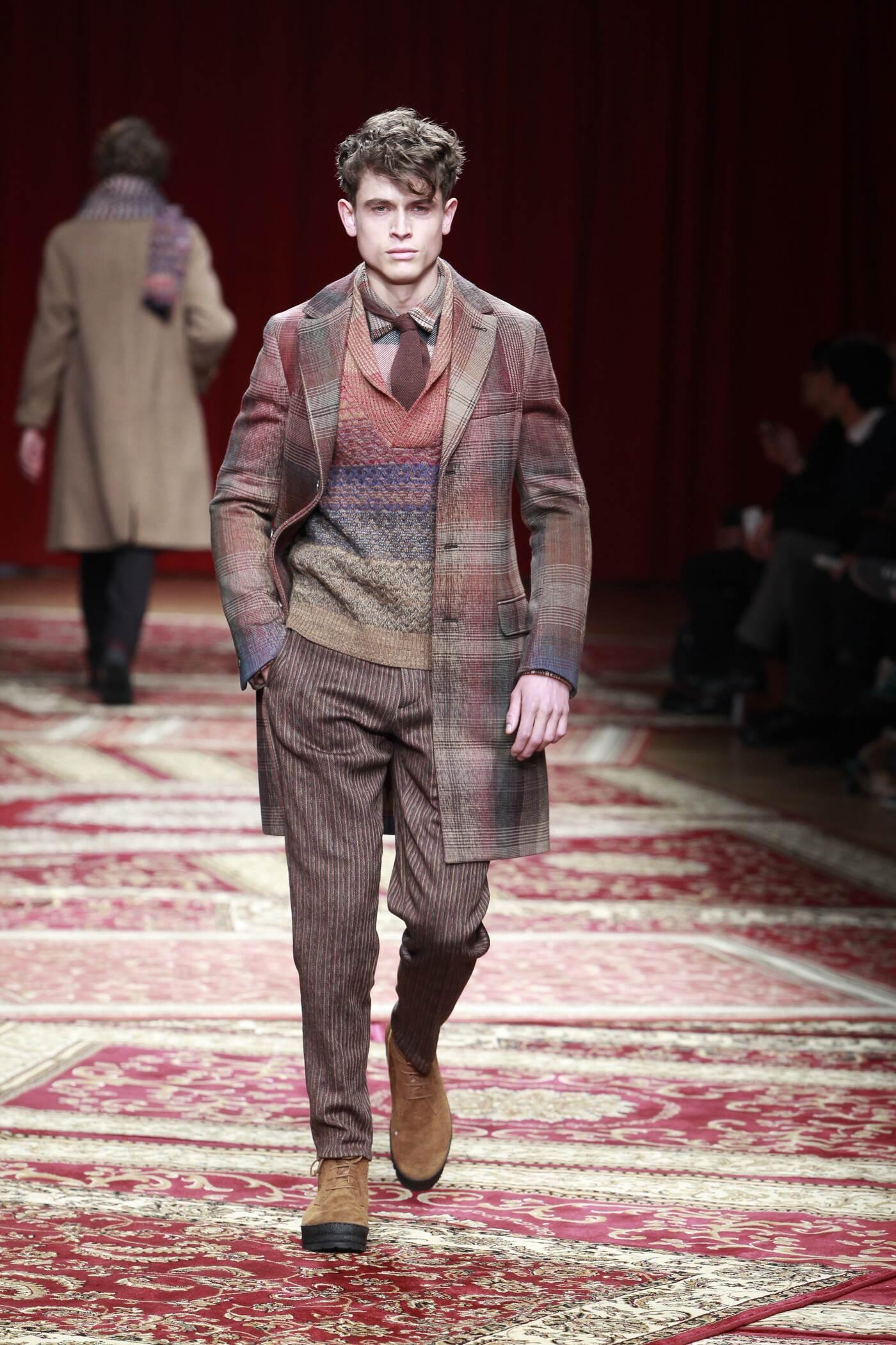 Runway Missoni Fall Winter 2015 16 Men's Collection Milan Fashion Week