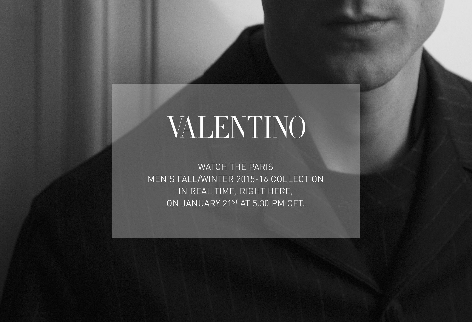 Valentino Fall Winter 2015-16 Men's Fashion Show Live Streaming Paris