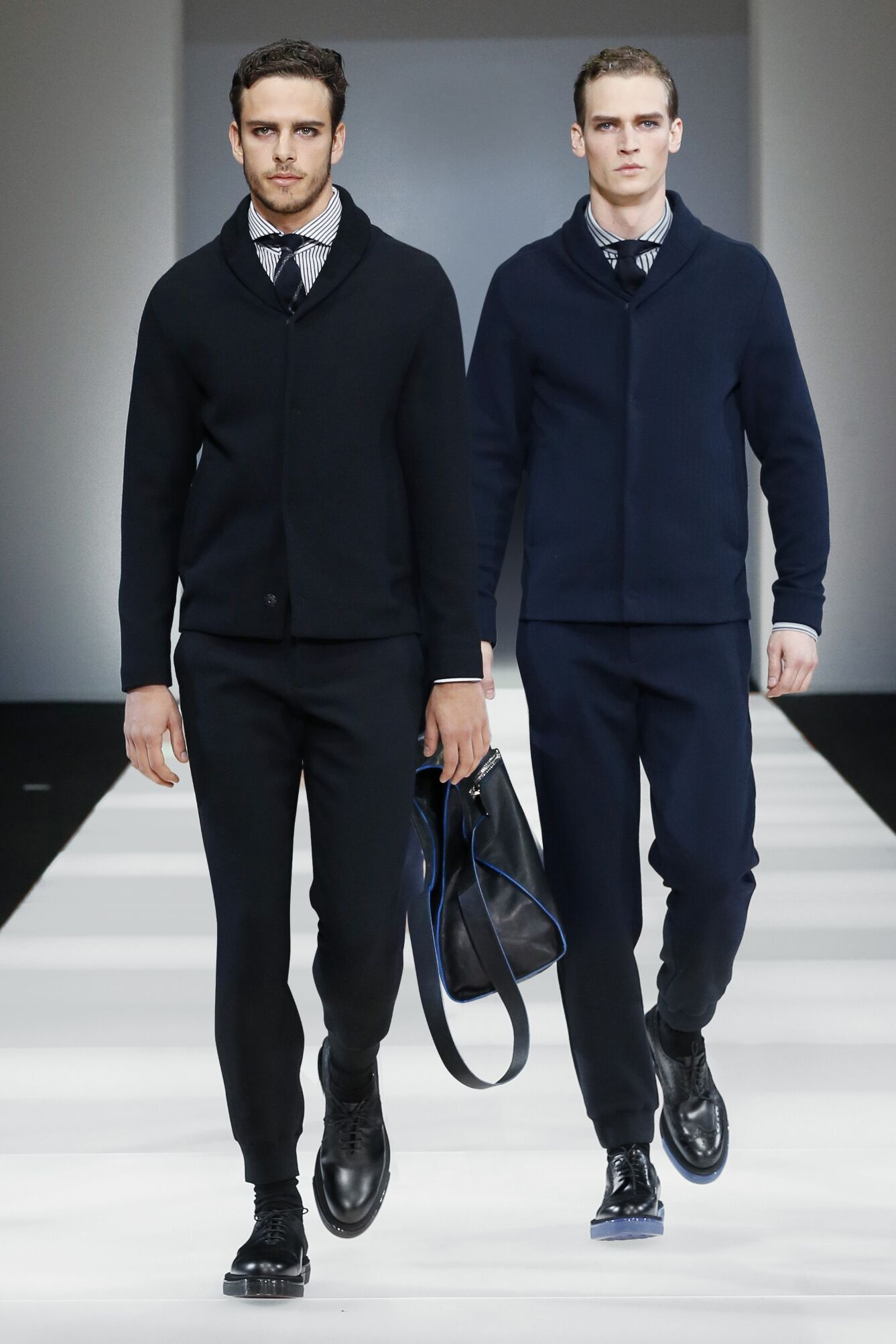 2015 16 Catwalk Emporio Armani Fall Winter Men's Collection Milano Fashion Week