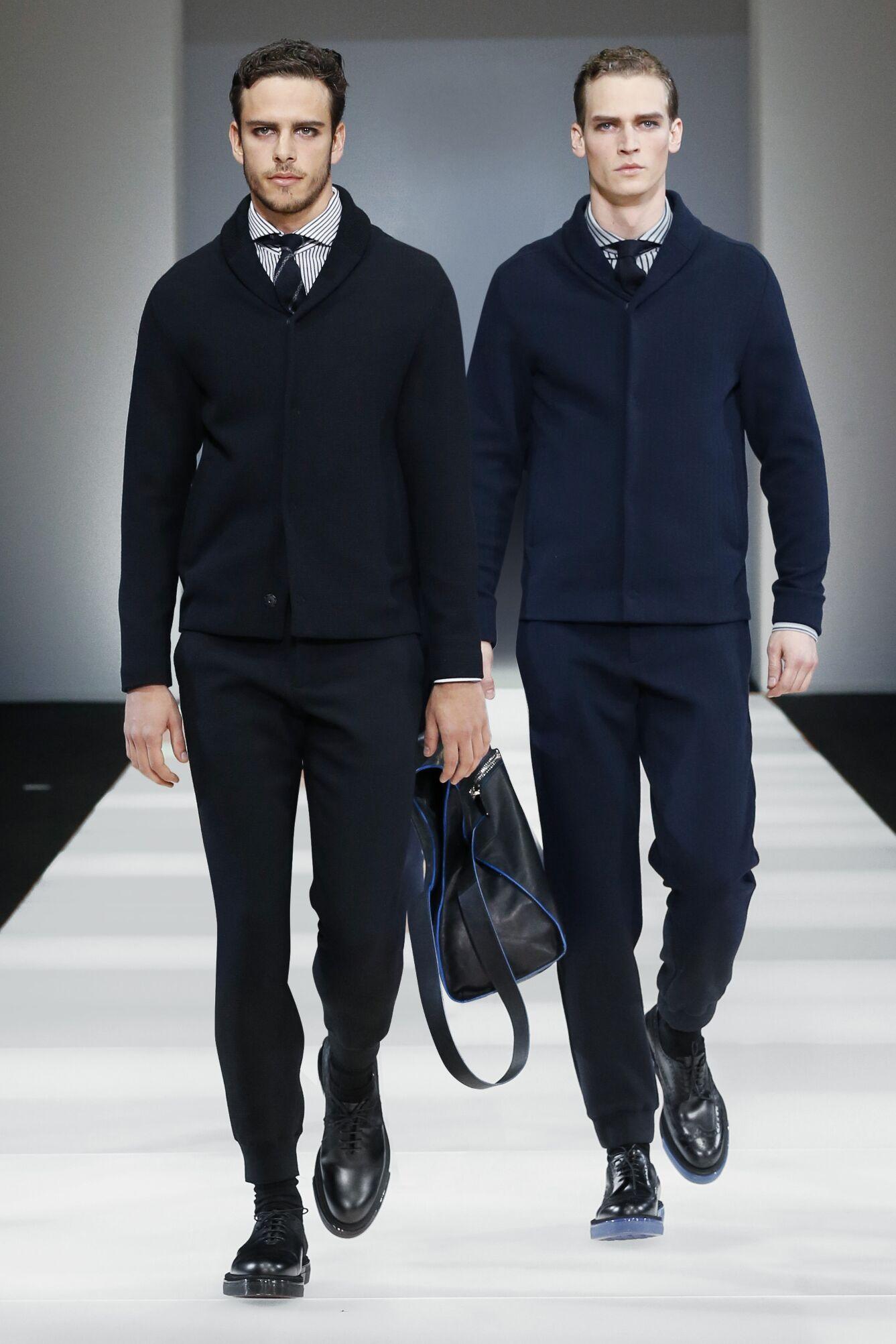 2015 16 Catwalk Emporio Armani Fall Winter Men's Collection Milano Fashion Week