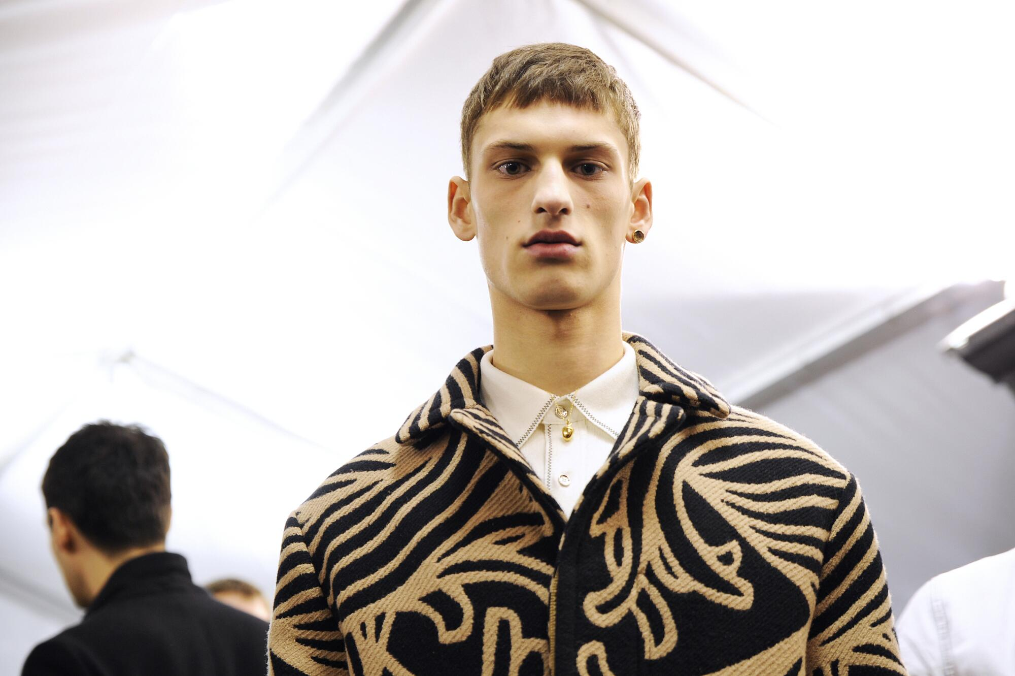 2015 Backstage Louis Vuitton Man Model