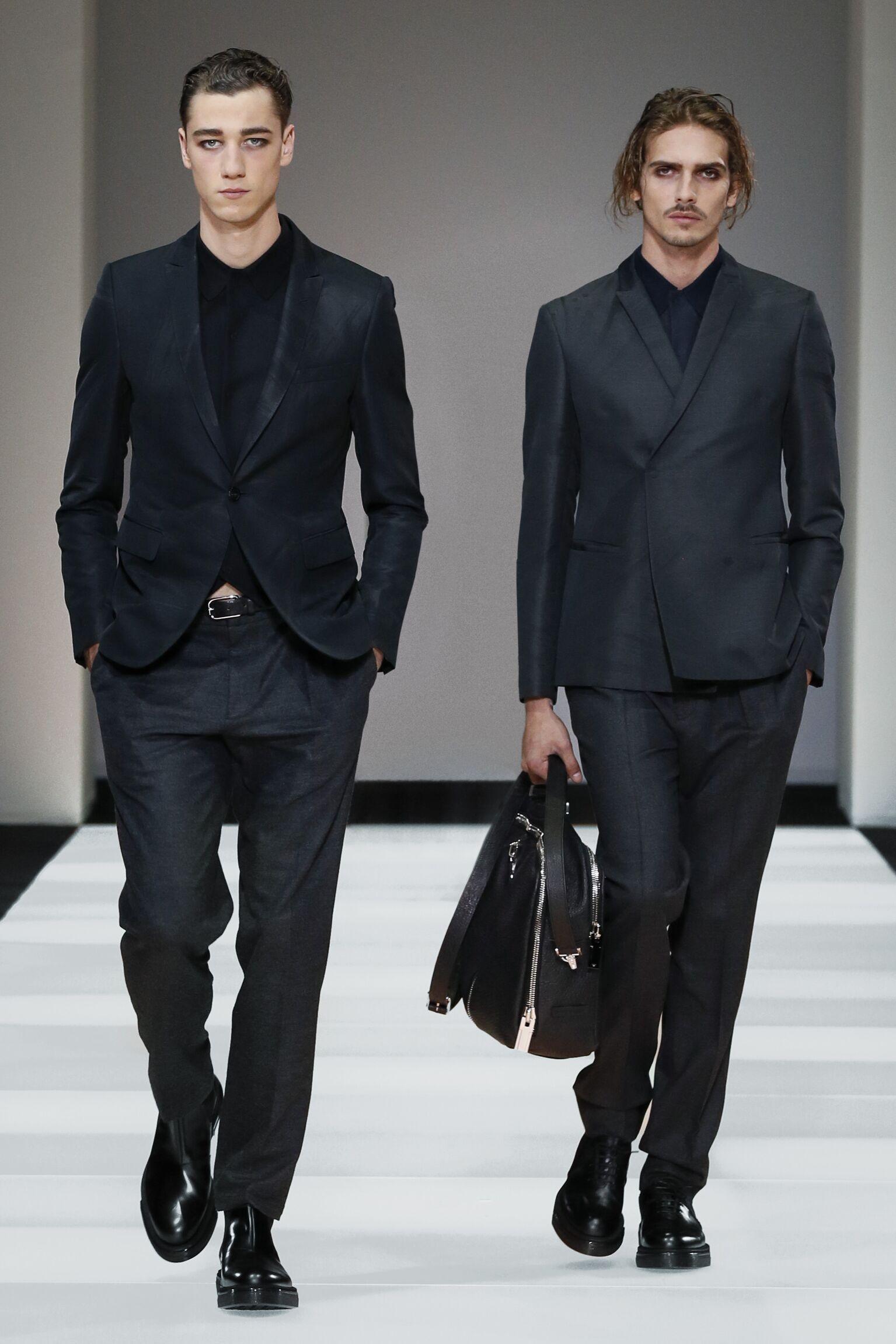 2015 Catwalk Emporio Armani Collection Fashion Show Winter