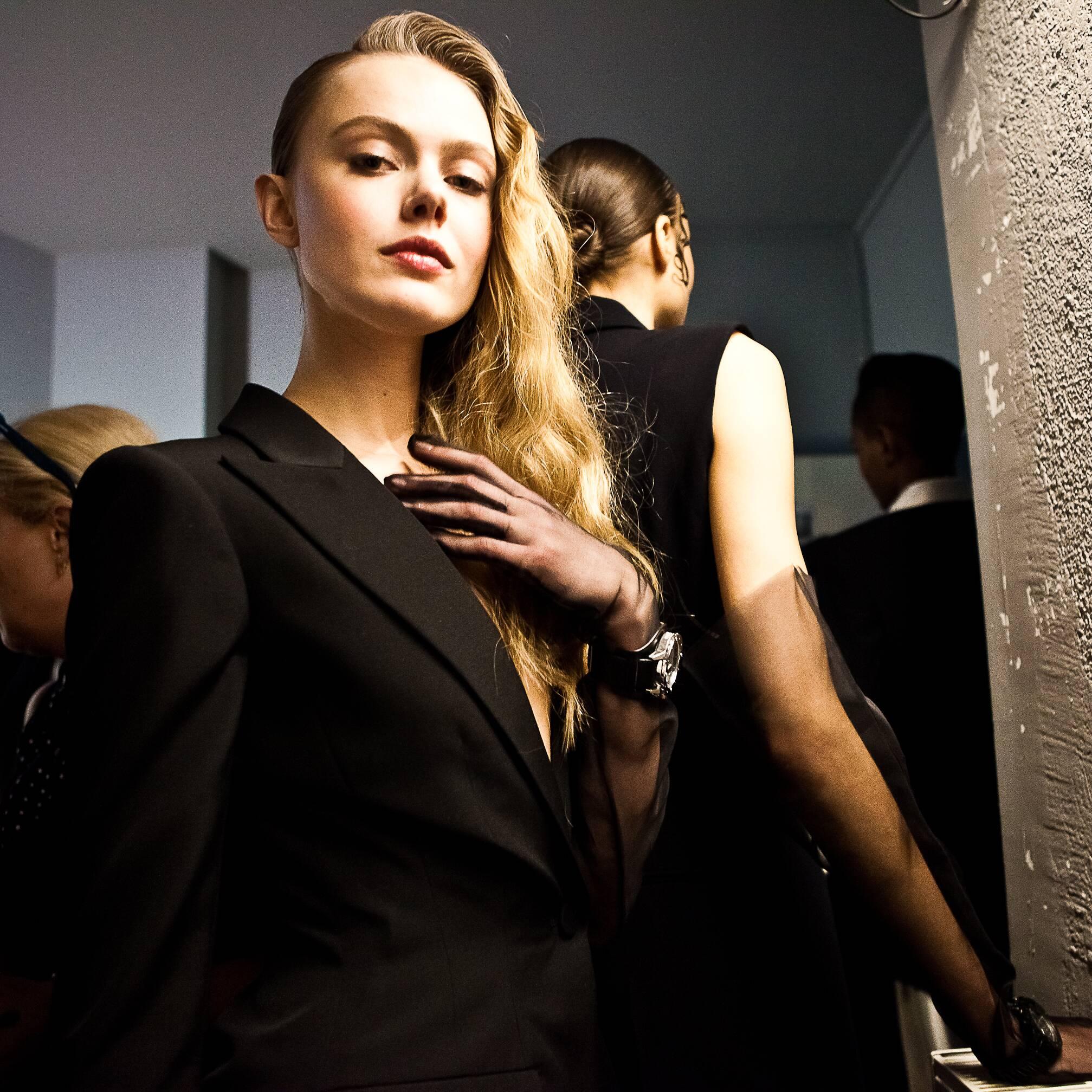 2015 Model Backstage Jean Paul Gaultier Haute Couture