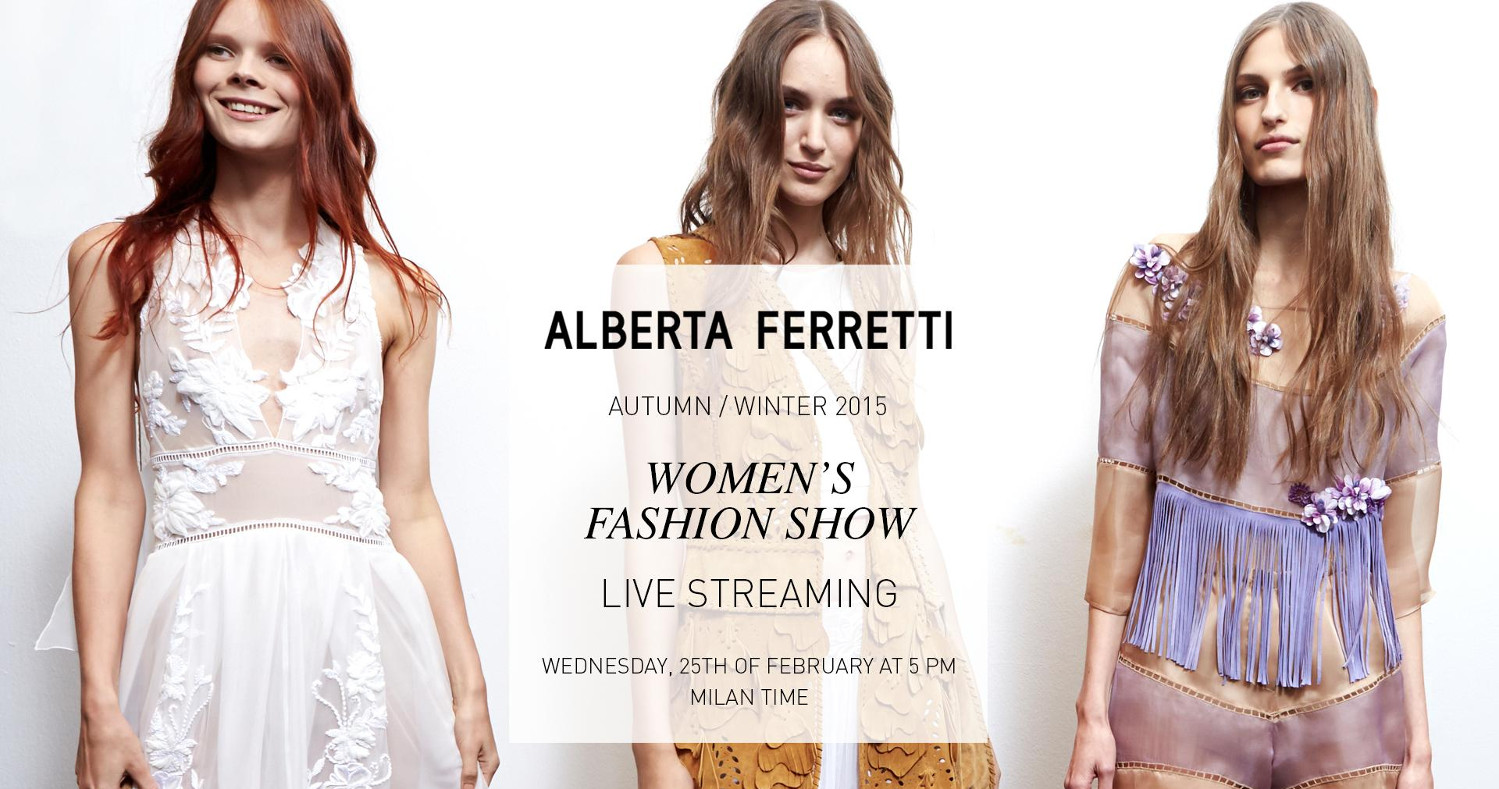 Alberta Ferretti Fall Winter 2015-16 Fashion Show Live Streaming Milan