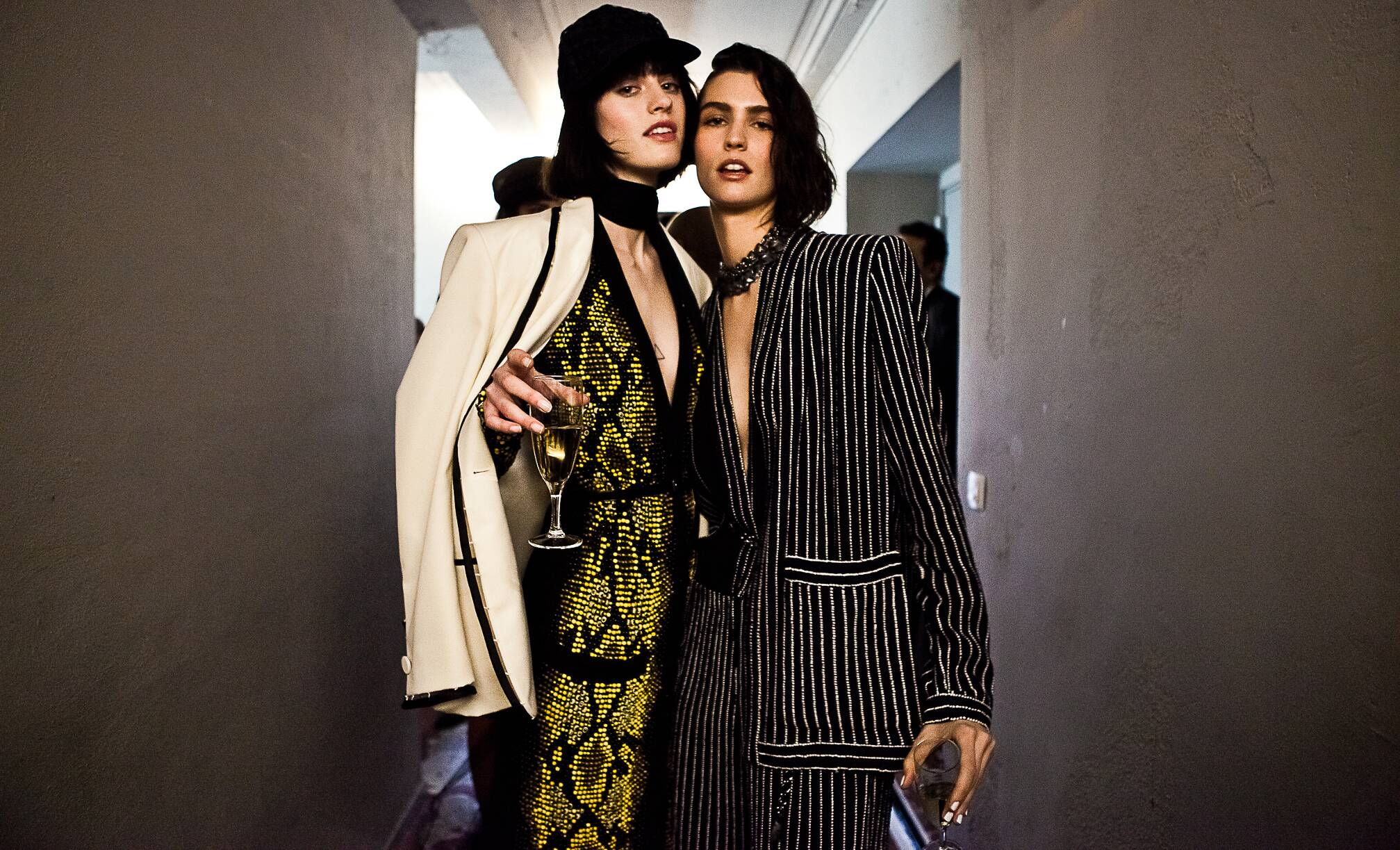 Backstage Jean Paul Gaultier Haute Couture 2015 Fashion Models