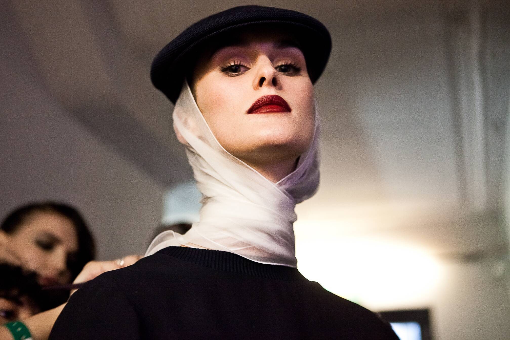 Backstage Jean Paul Gaultier Haute Couture Womenswear Model