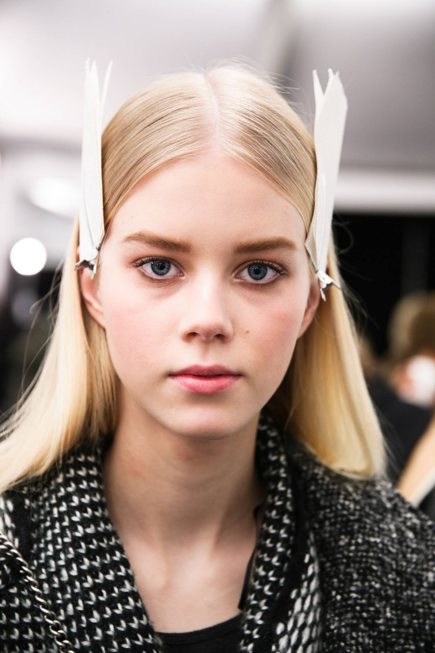 Backstage Tommy Hilfiger Hair Style New York Fashion Week