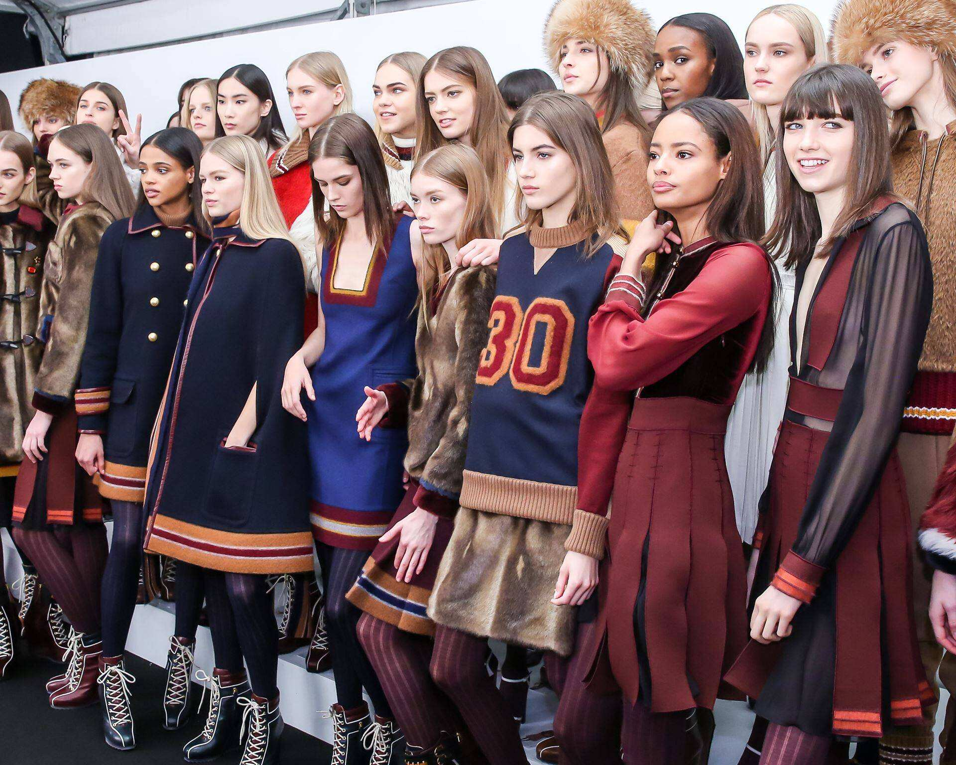 Backstage Tommy Hilfiger Models