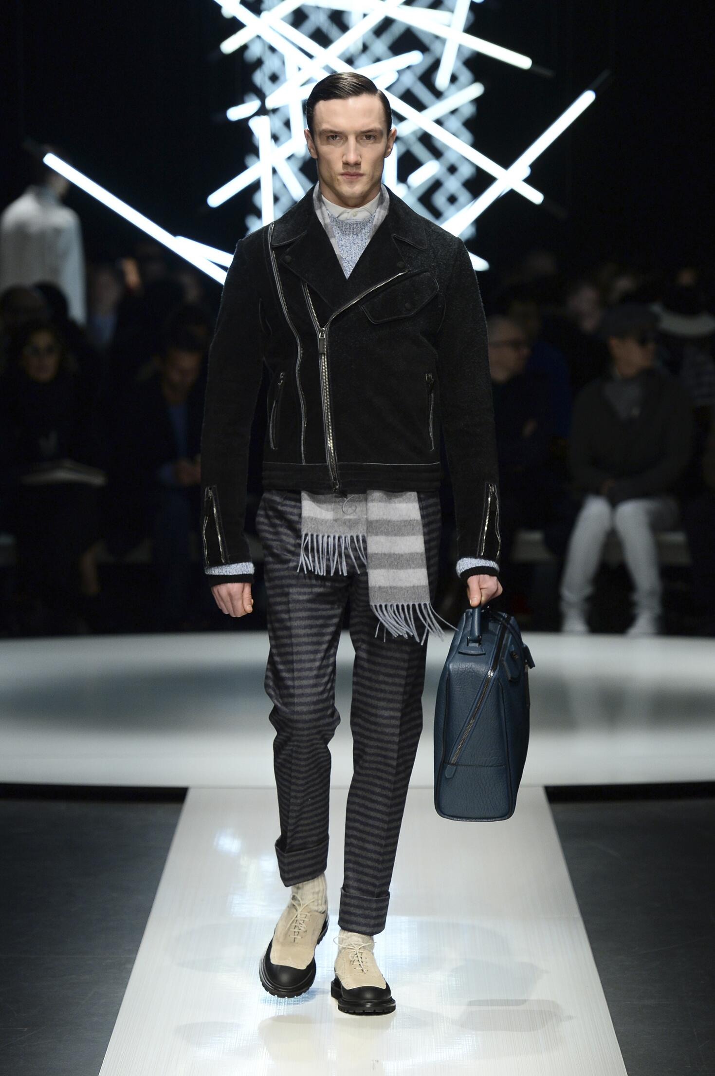 Catwalk Canali Fall Winter 2015 16 Men's Collection Milano Fashion Week